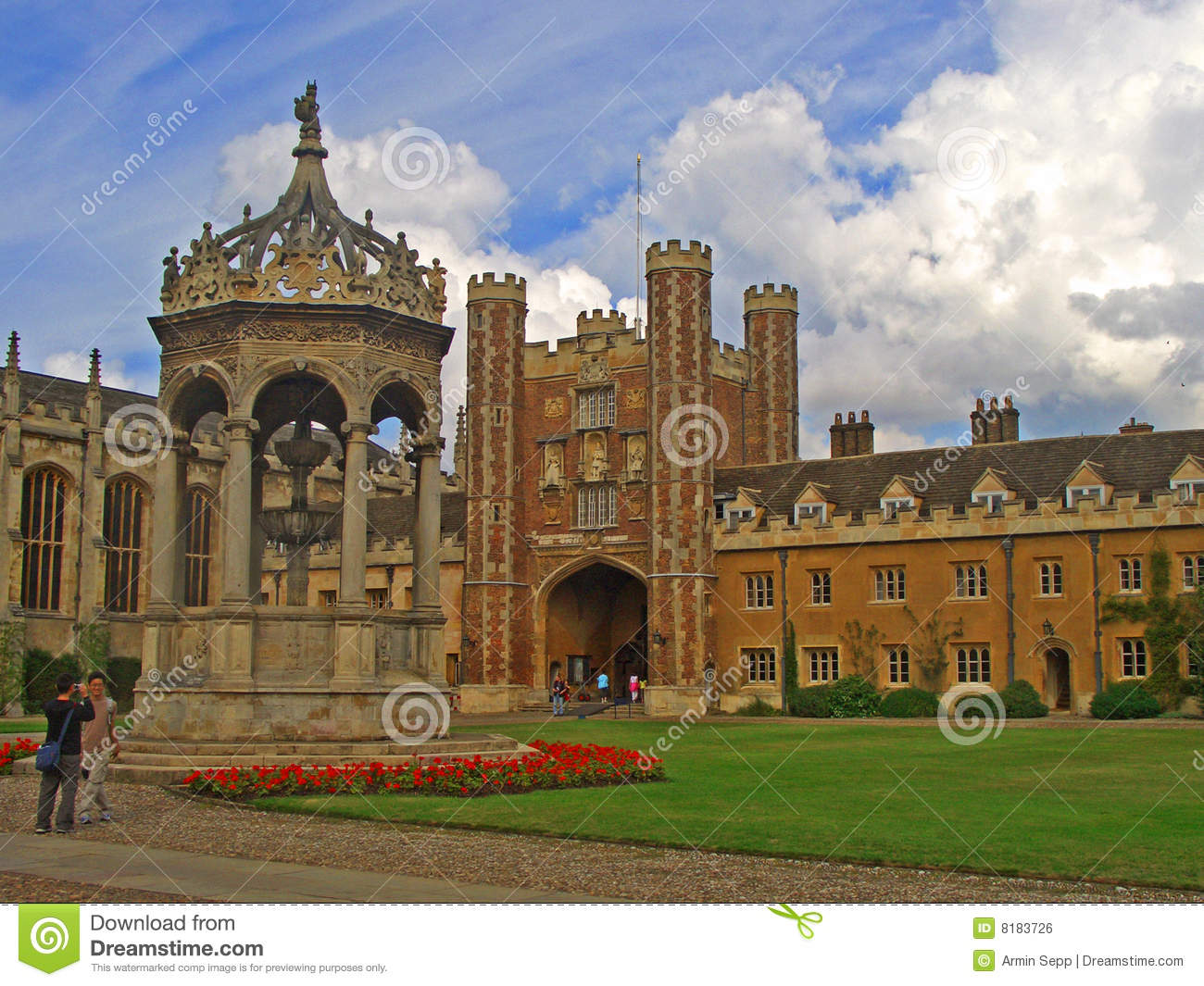 Trinity College Cambridge University Royalty Free Stock