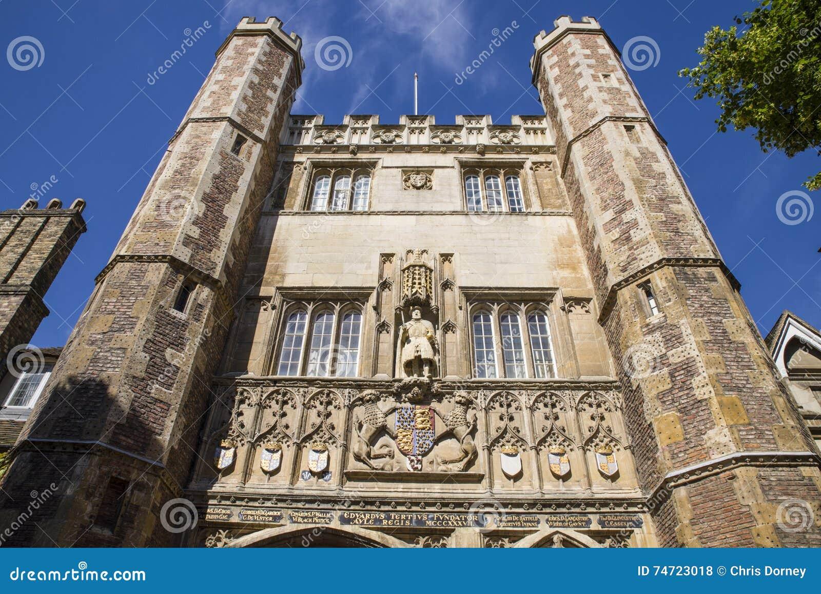 King Henry VIII At Trinity College Cambridge Stock ...