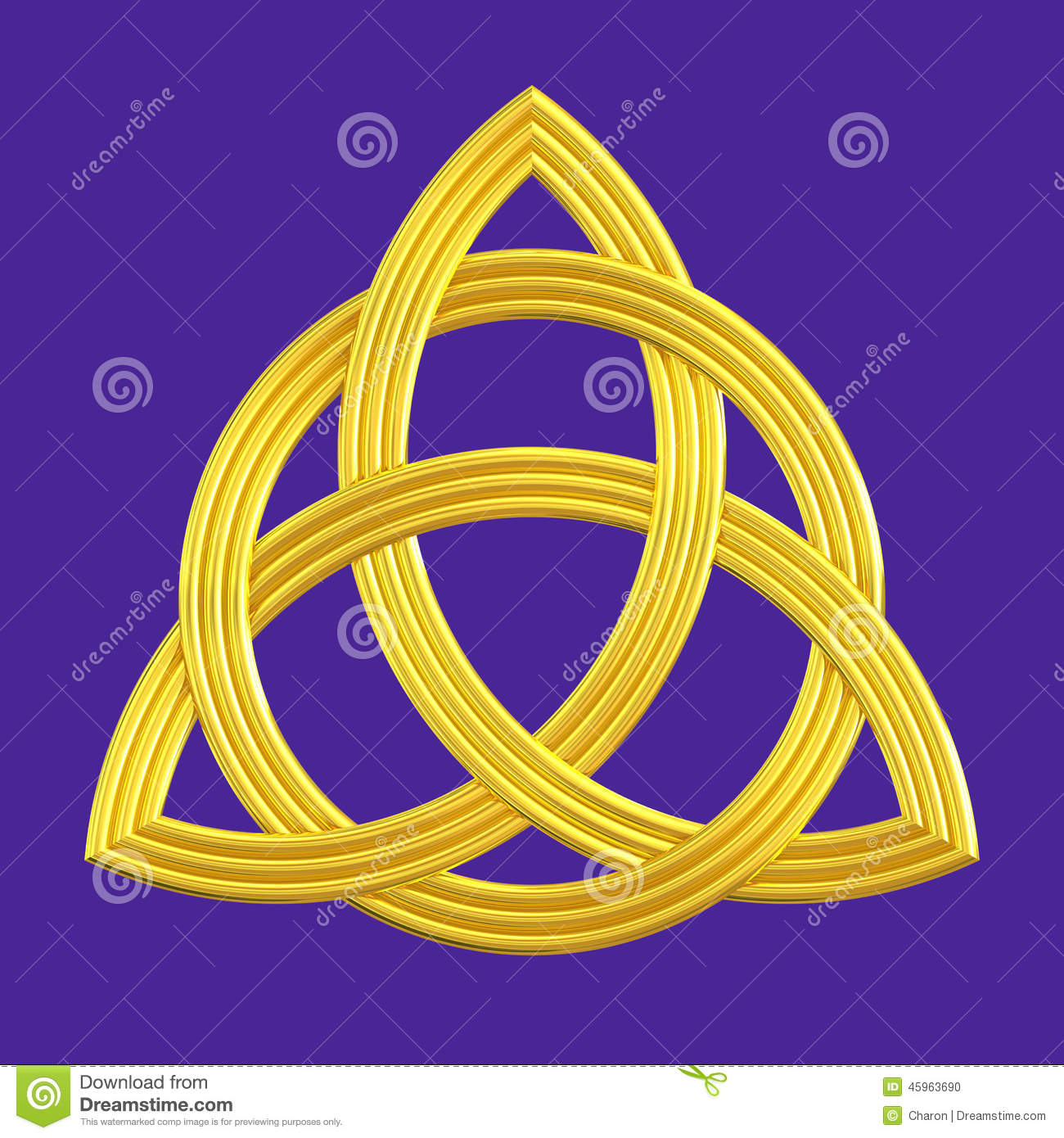 Trinity Knot Gold Triquetra Symbol Stock Illustration - Image ...