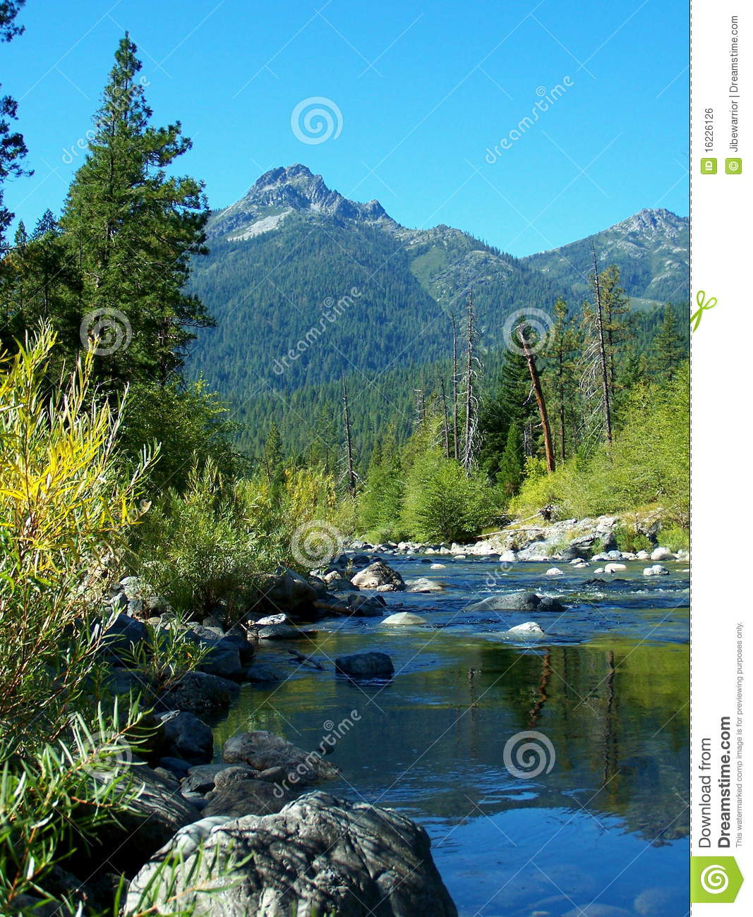 Trinity River, Trinity Alps Stock Photo - Image of pool