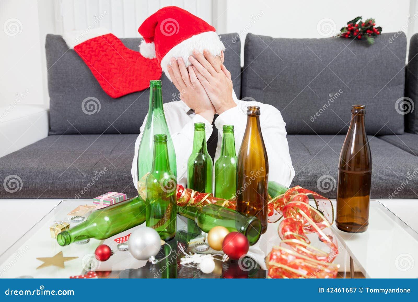 Trinken zu viel während der Weihnachtszeit