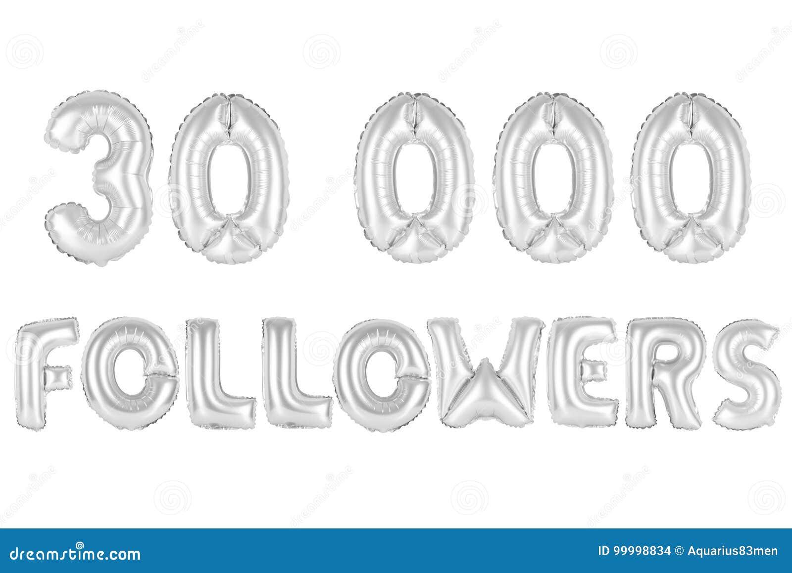 Trinta mil seguidores, cromam a cor cinzenta