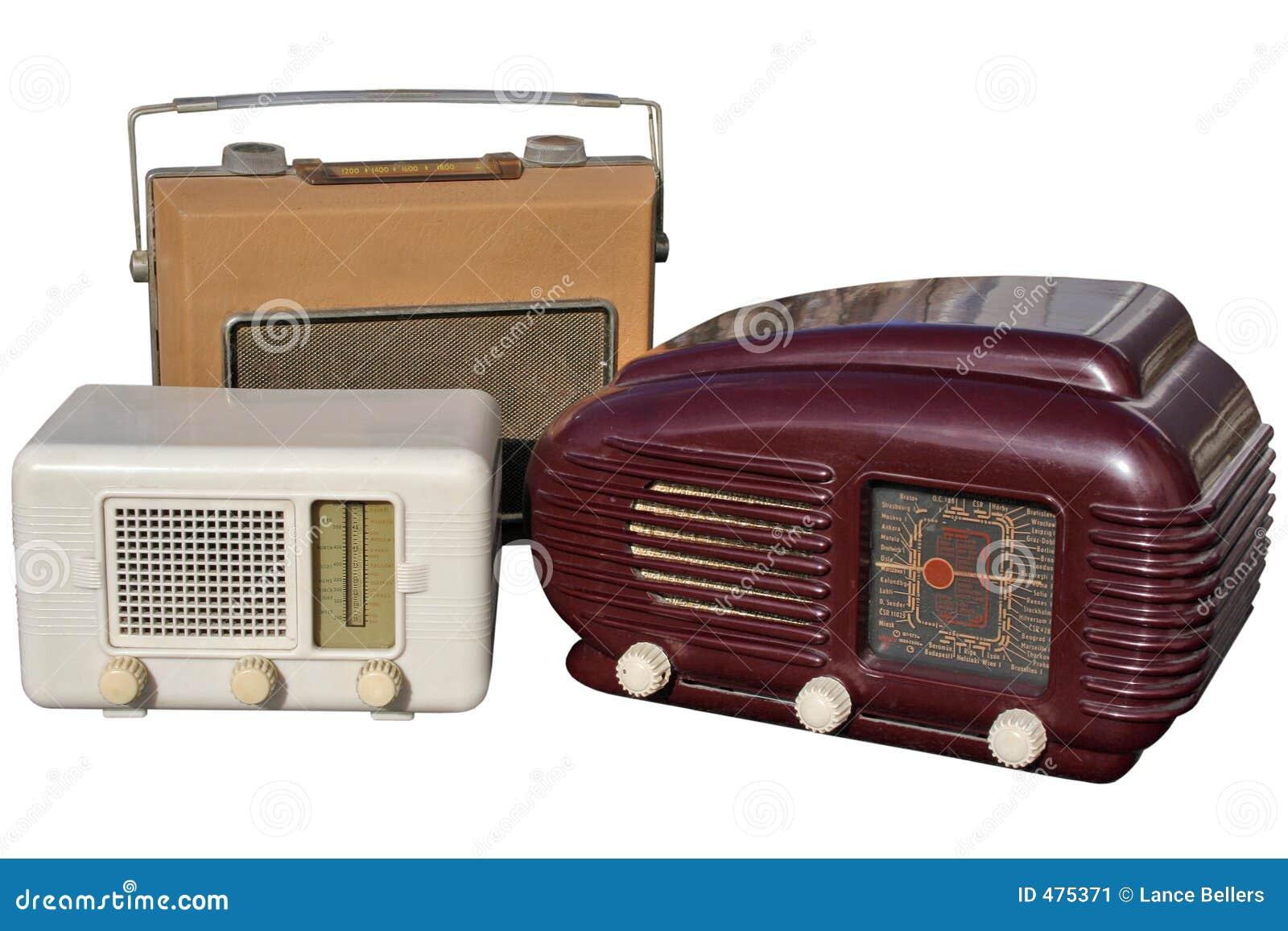 Trio de rétro radios