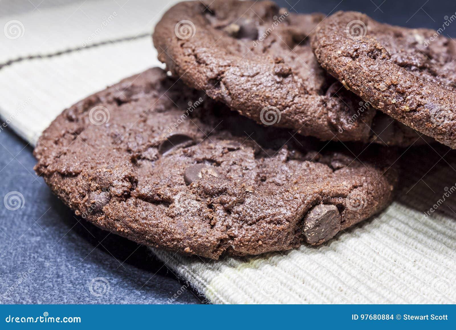 Trio van Chocoladekoekjes