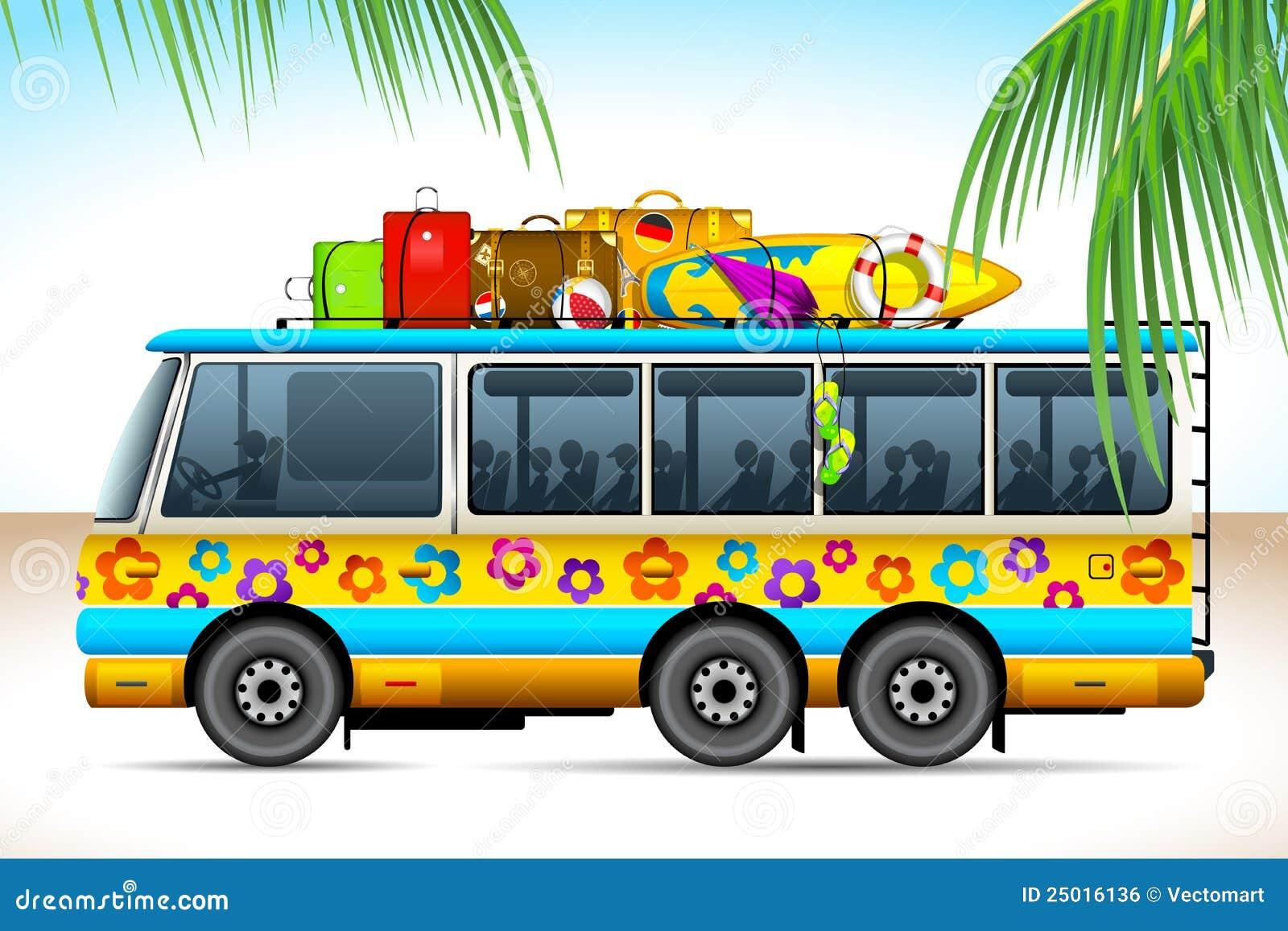 Trip On Bus Stock Vector Illustration Of People Street