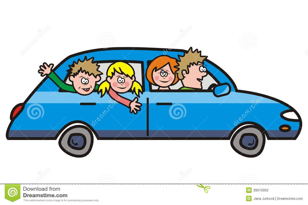 Riding In A Car Clipart Trip - car stock vector - image: 39015902