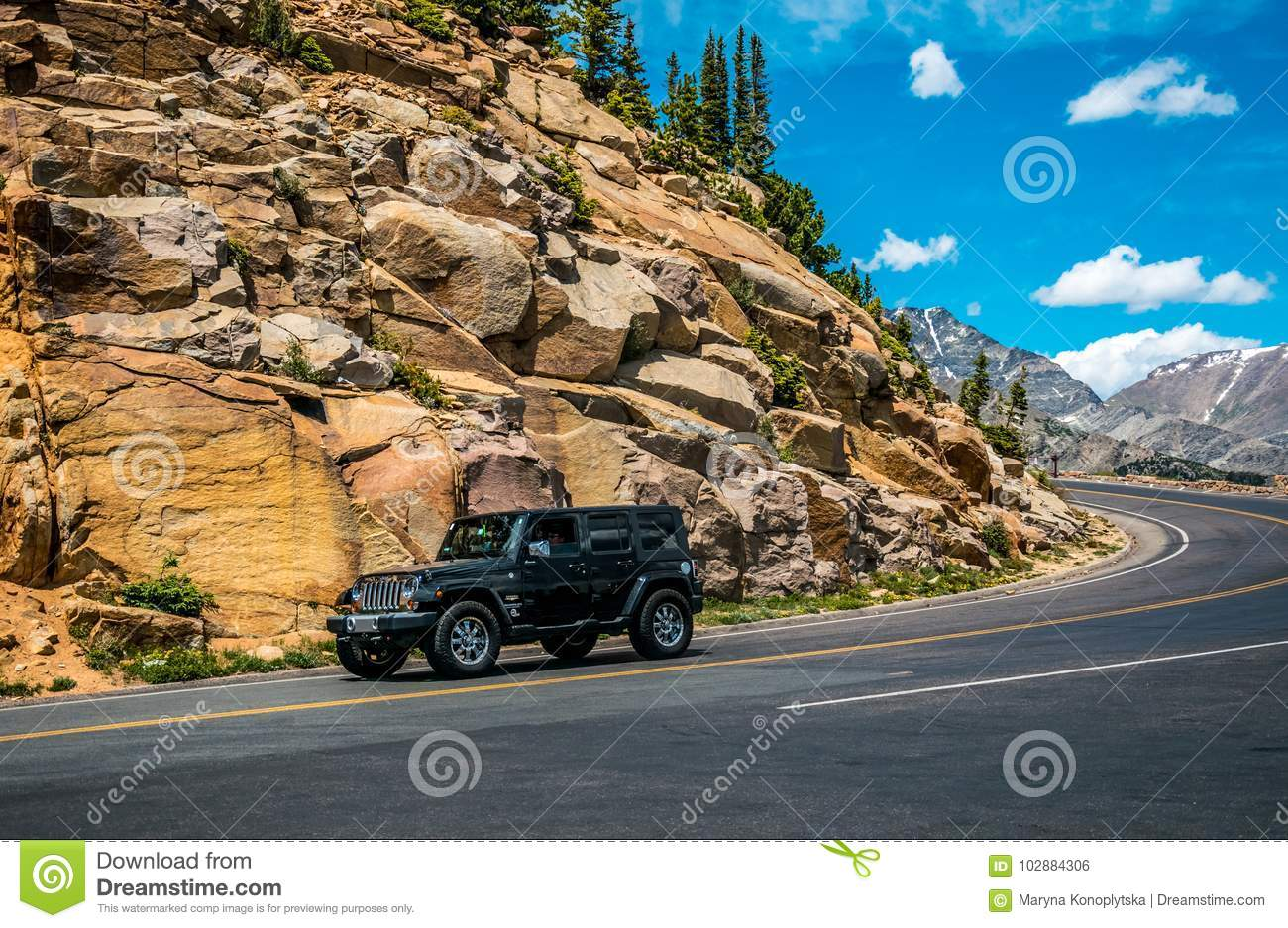 Trip To The Wilds Of Colorado  Car Jeep On A Mountain Road