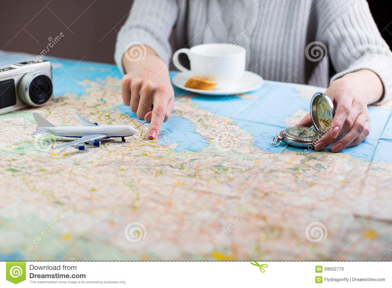 Trip Travel Planning Map Photo Image 59552773 – Map For Travel Planning