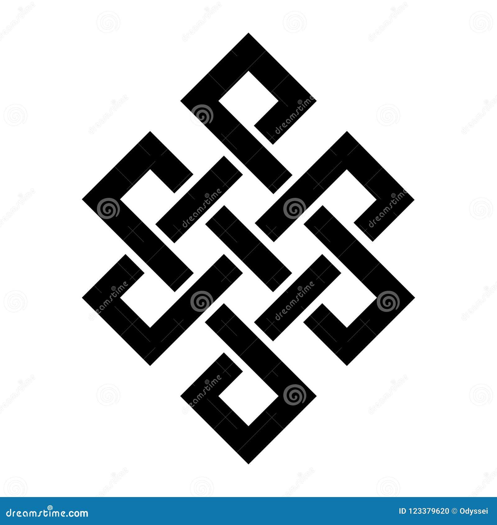 Tripa de Buda ( El knot&#x29 eterno; símbolo del — de la inseparabilidad de la existencia en el universo