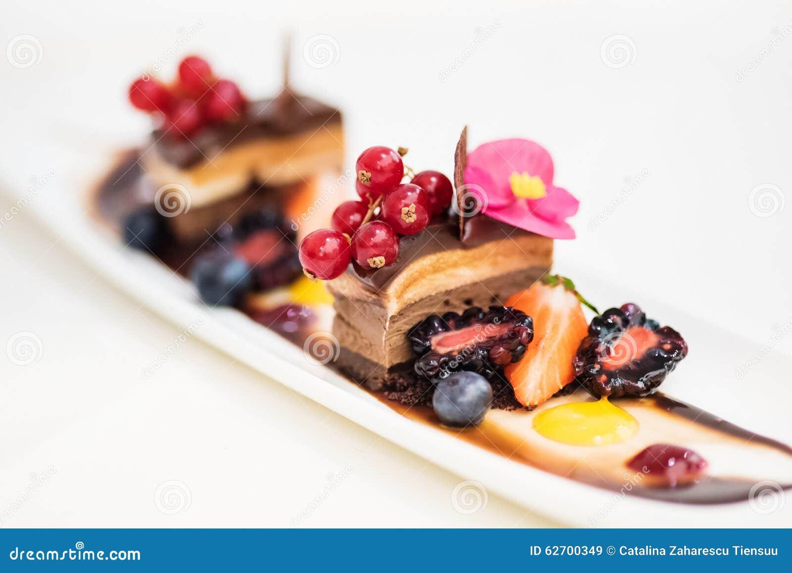Triple Chocolate Dessert Stock Photo Image 62700349