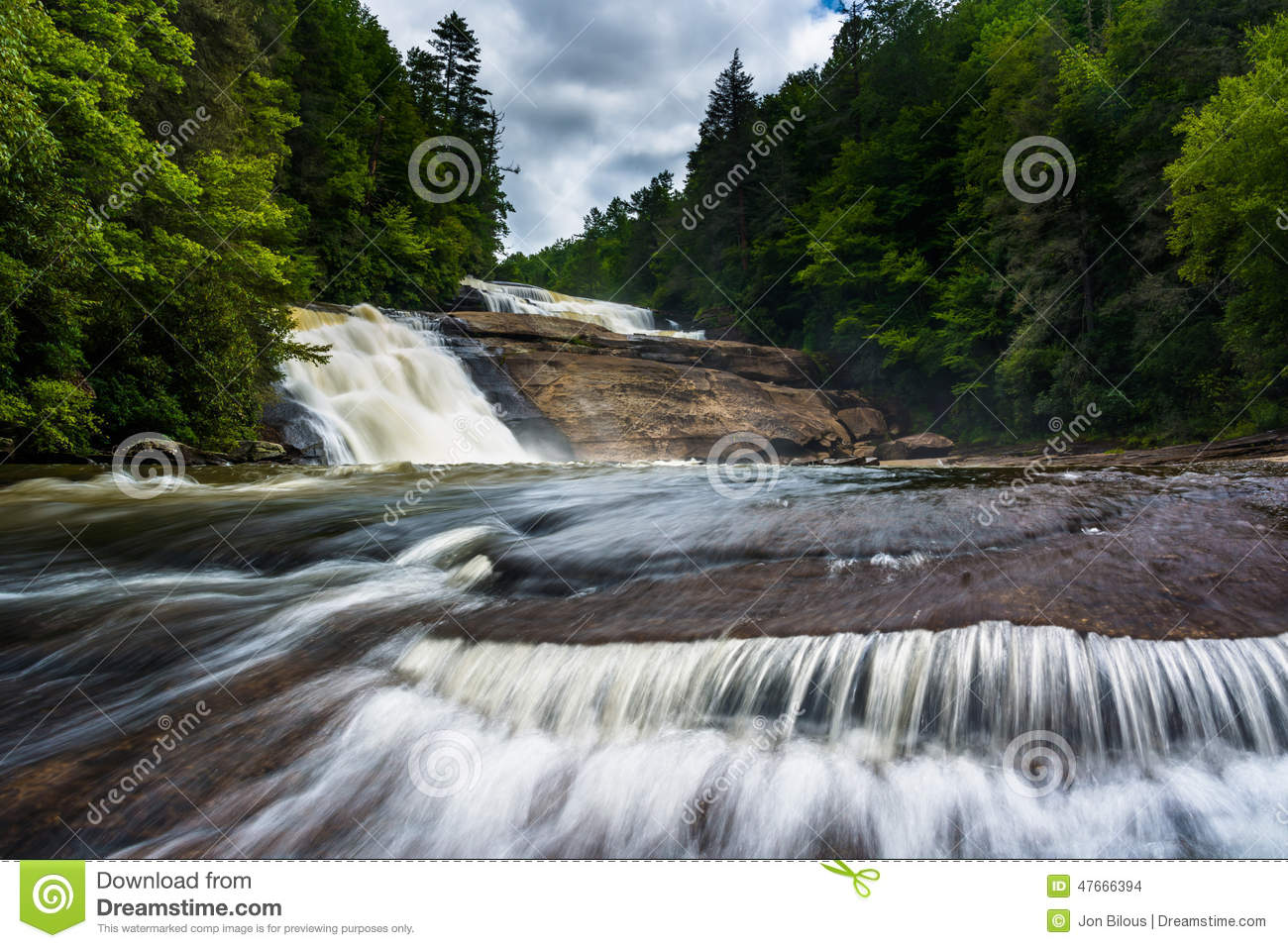 Triple Falls, in Dupont State Forest, North Carolina.