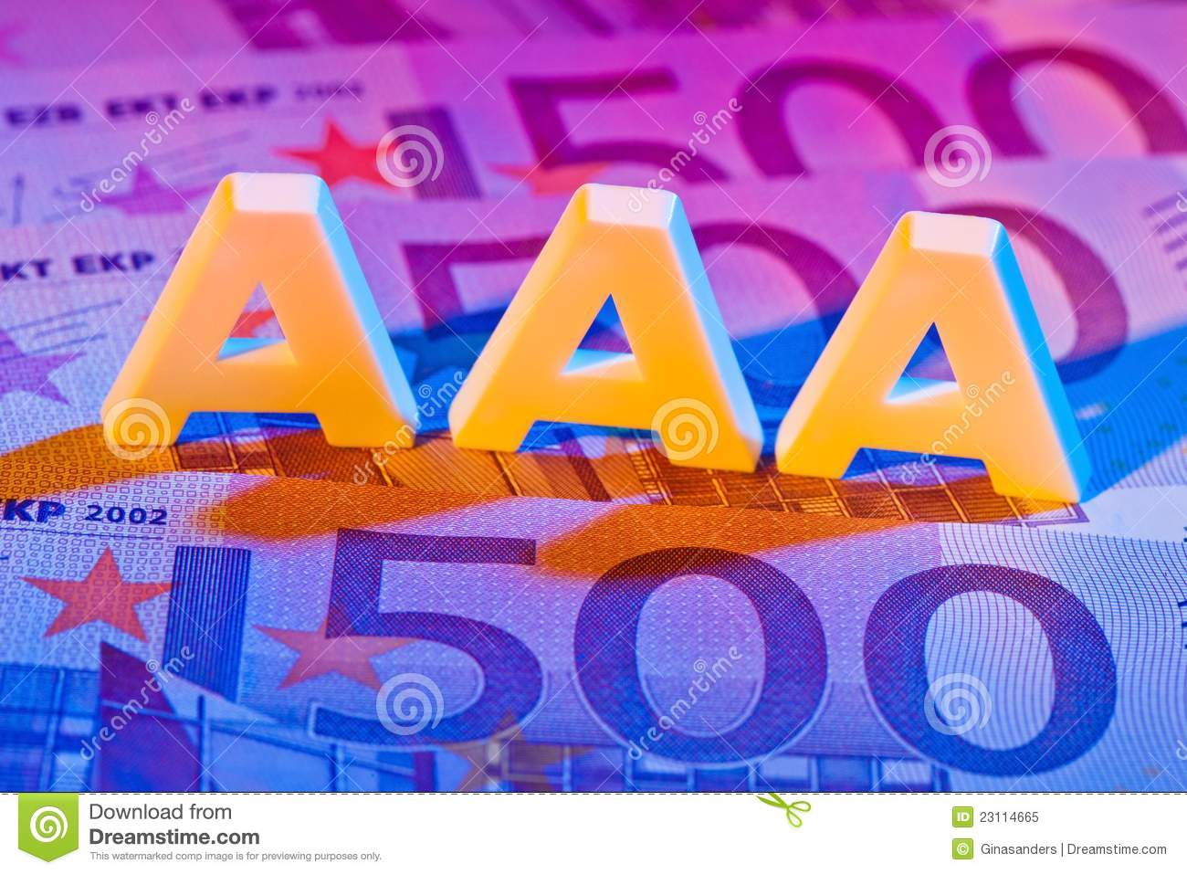 The Triple A Of A Rating Agency  Aaa Stock Image - Image of agency