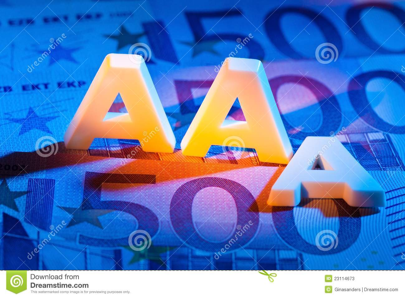 The Triple A Of A Rating Agency Aaa Stock Image Image Of Bonds