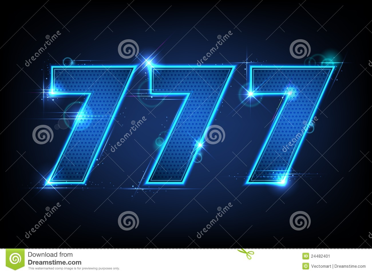 triple seven jackpot stock illustration  image of prize