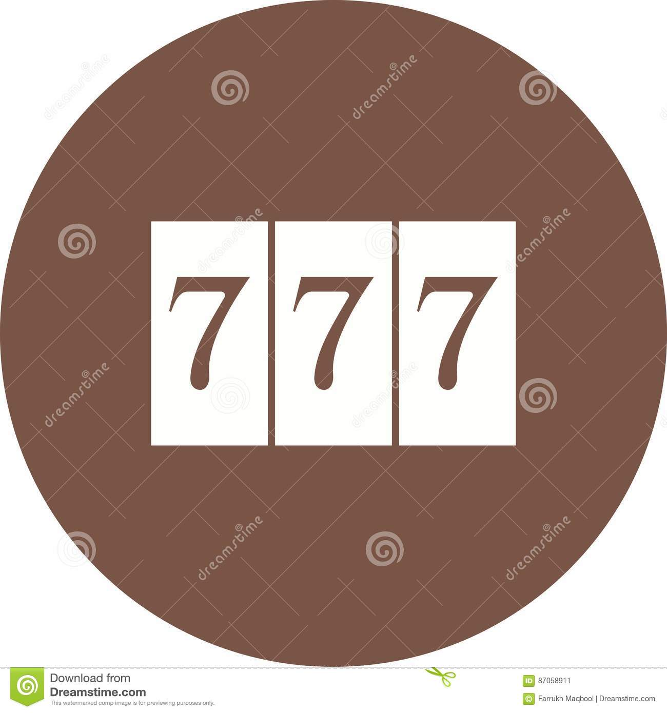 Triple Sevens stock vector  Illustration of slot, design