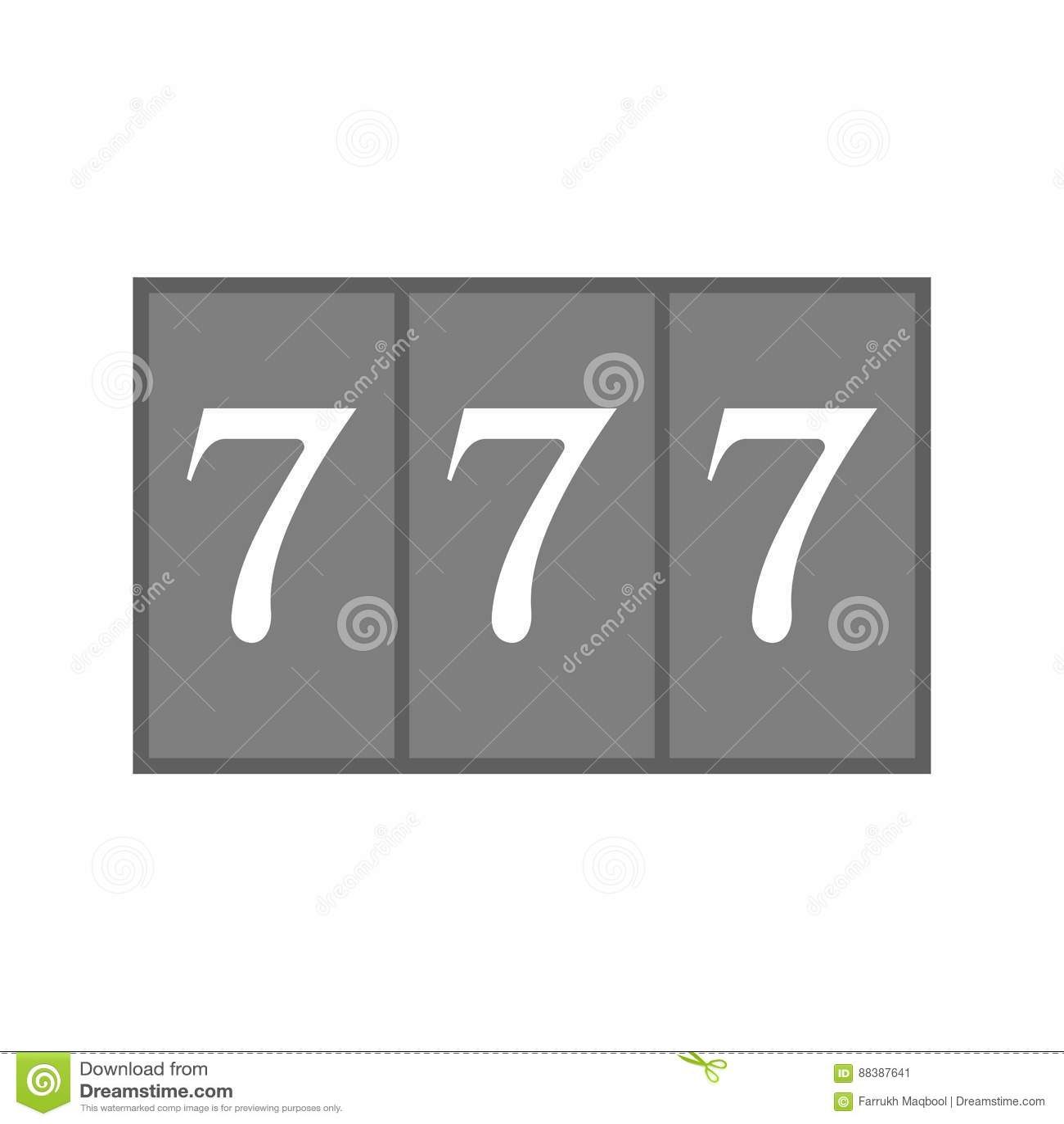Triple Sevens stock vector  Illustration of success, concept