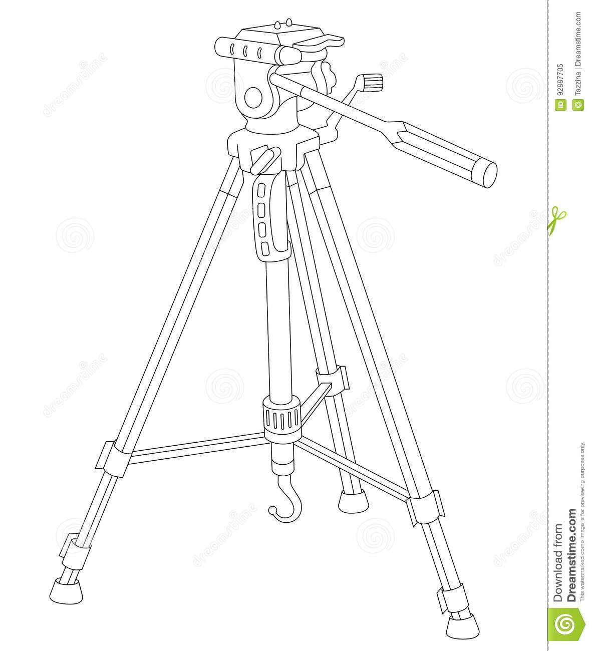 tripod for camera and camcorder stock vector illustration of imagetripod for camera and camcorder
