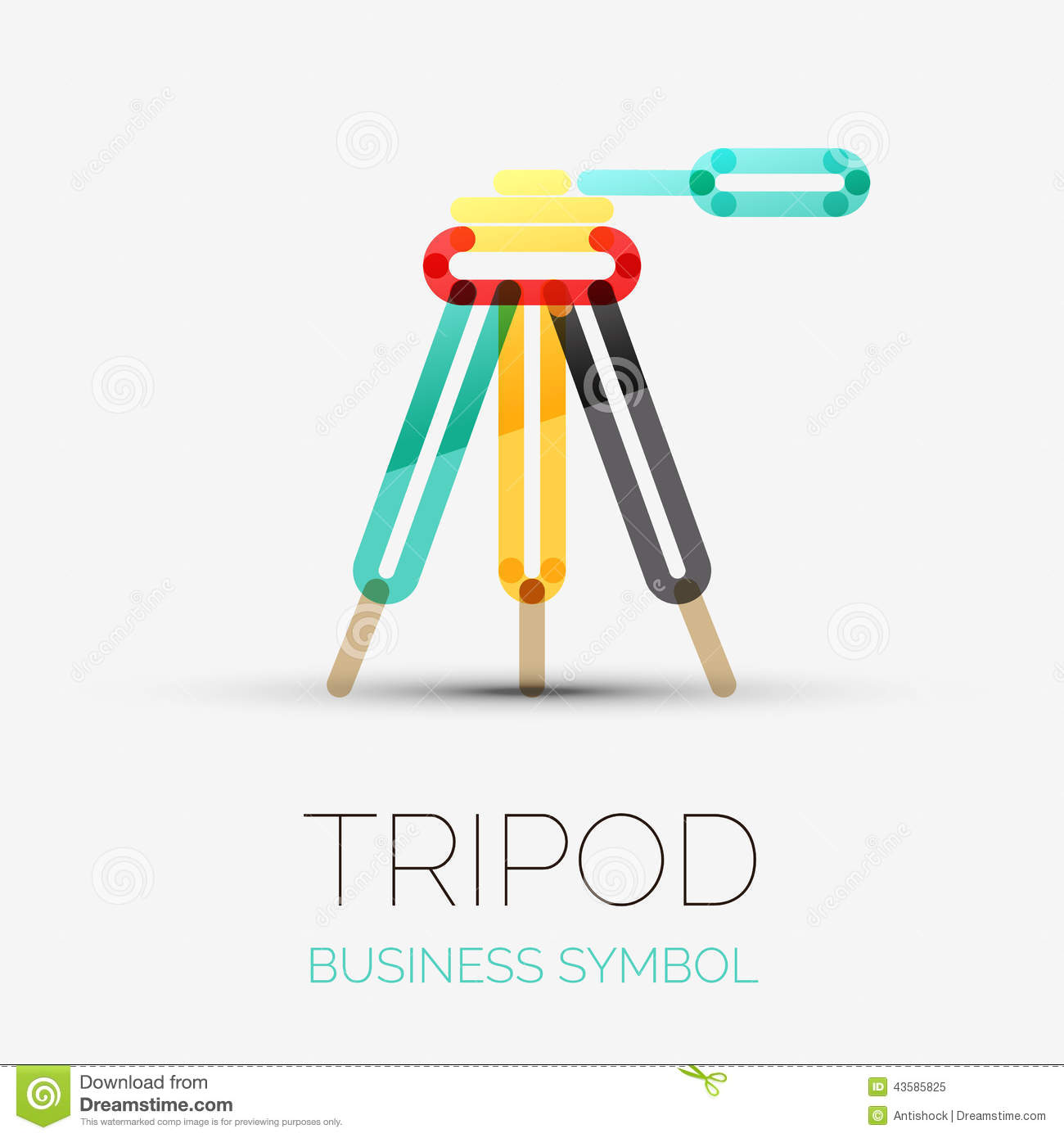 tripod icon company logo business symbol concept stock