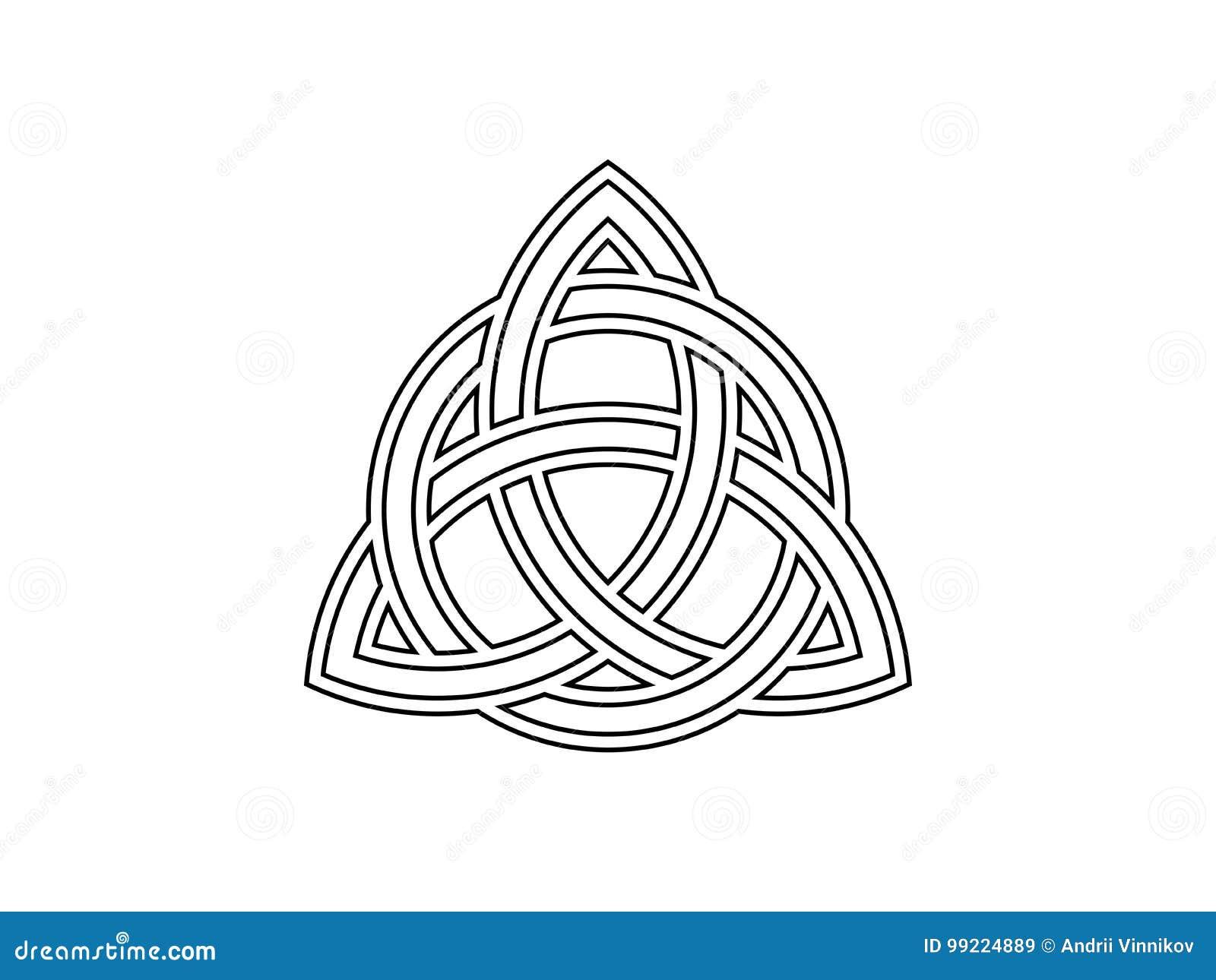 Triquetra Dreiheits Knoten Keltisches Symbol Der Ewigkeit Vektor