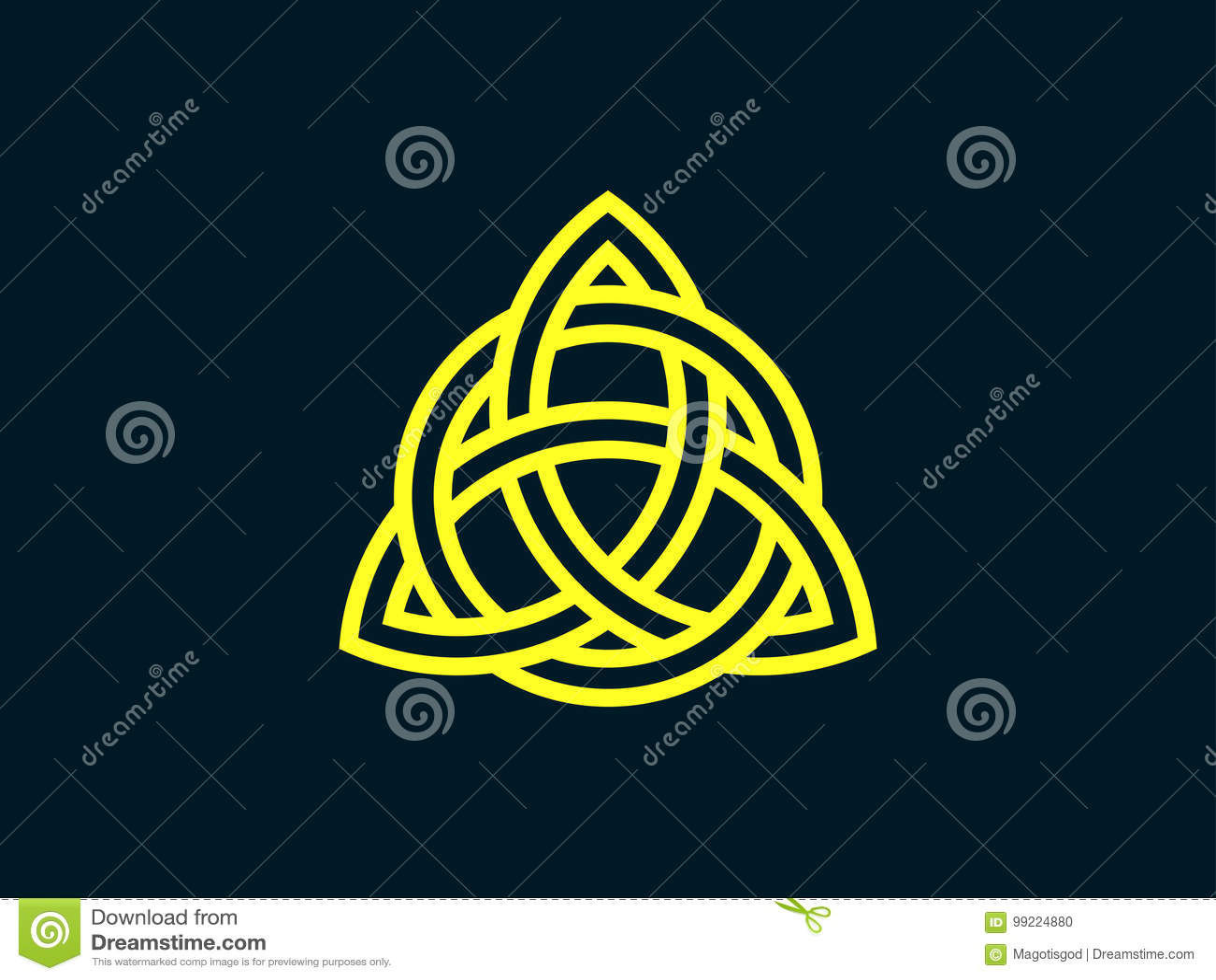 Triquetra Noeud De Trinité Symbole Celtique Déternité Vecteur