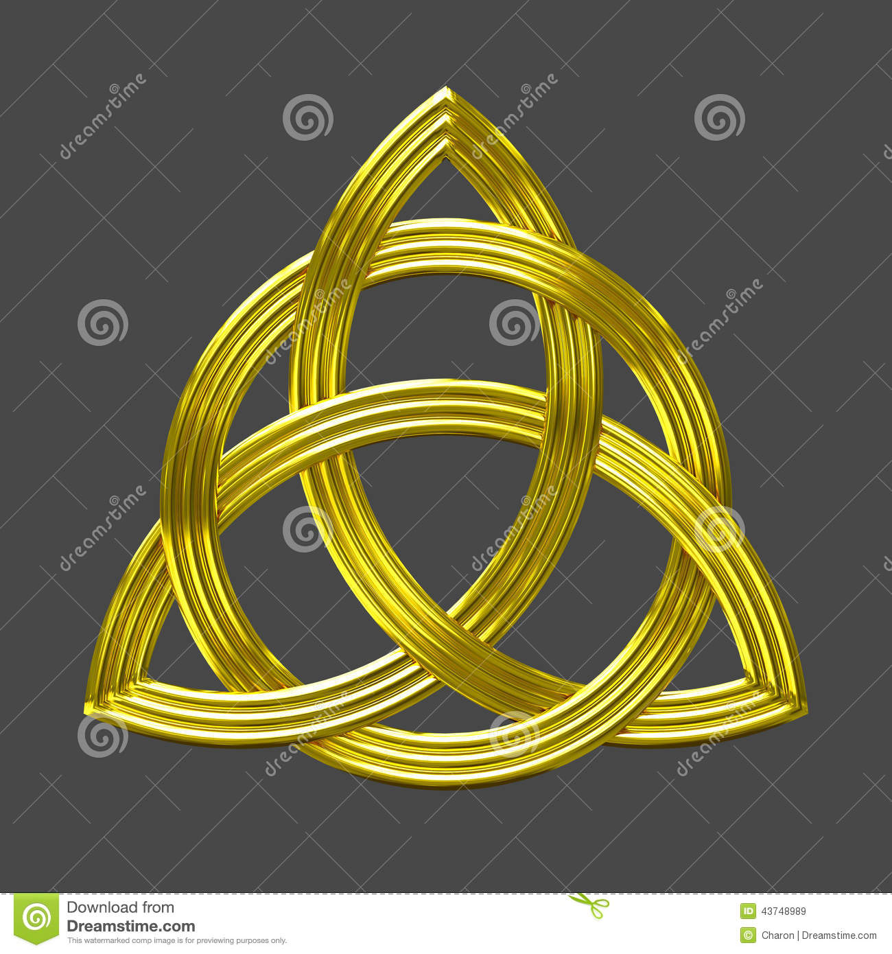 Triquetra Trinity Knot Gold Symbol Stock Image Image Of Furnishing