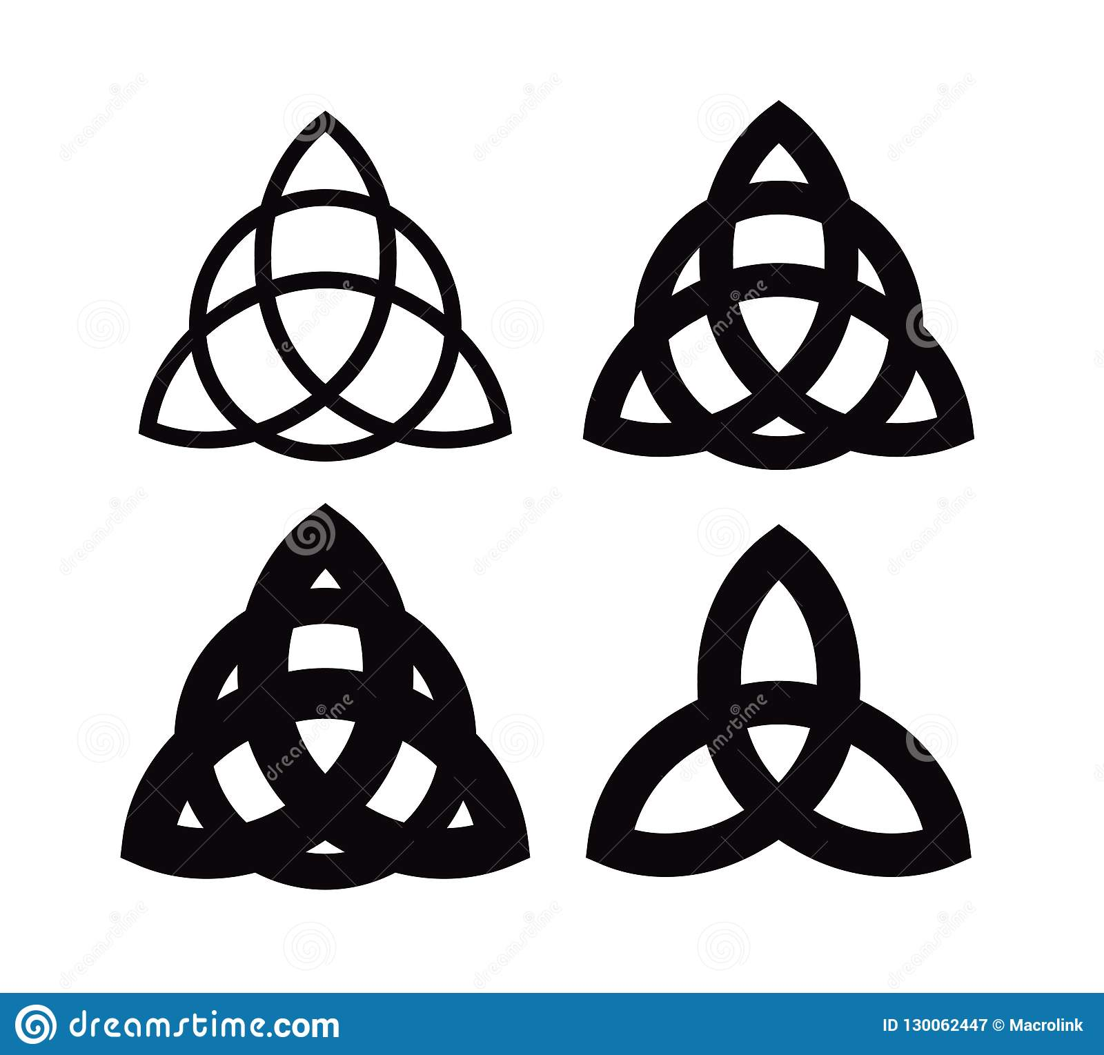 Triquetra Wiccan Symbol From Charmed Celtic Pagan Trinity Knots