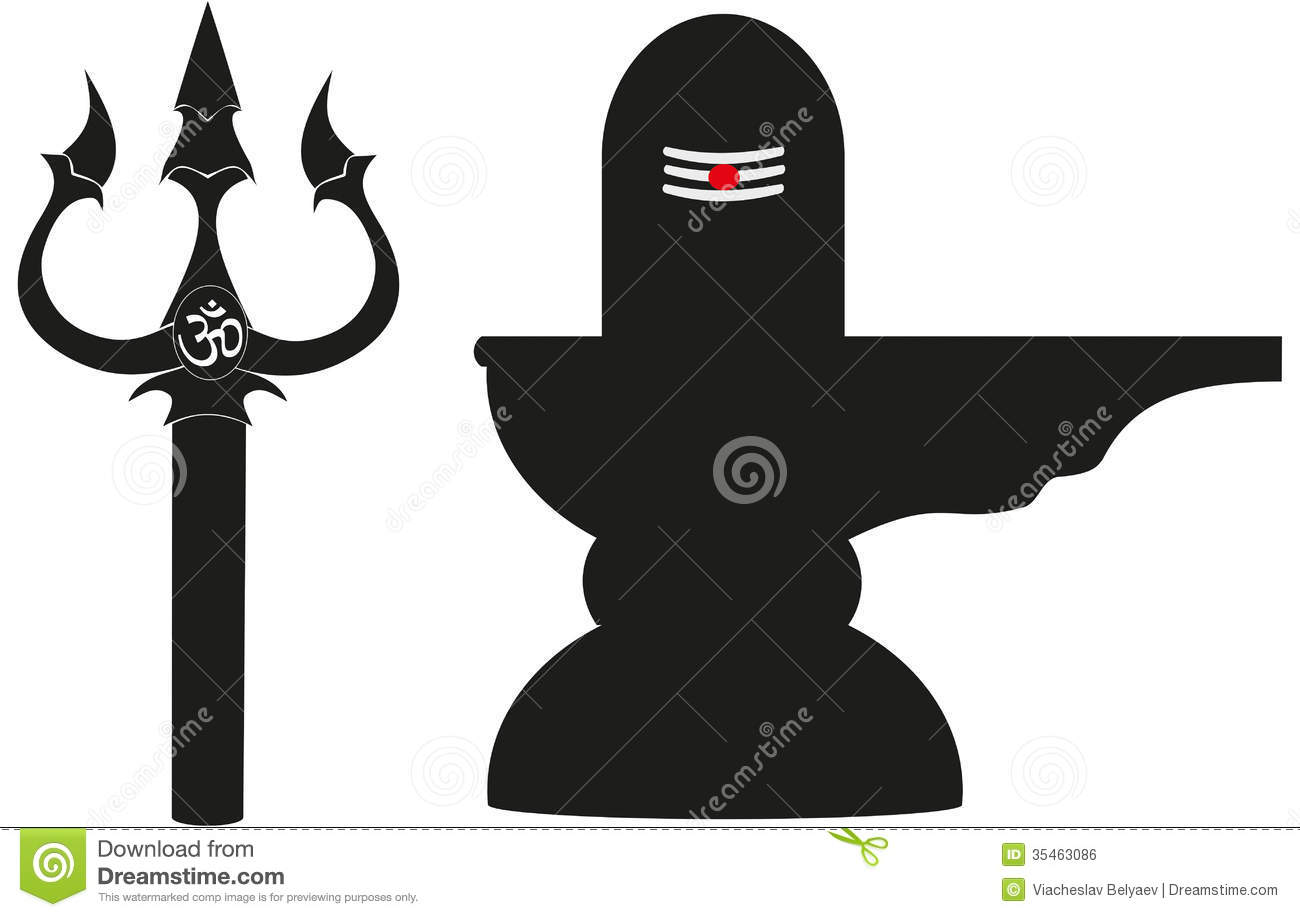 Trishul and Lingam stock illustration. Illustration of ...