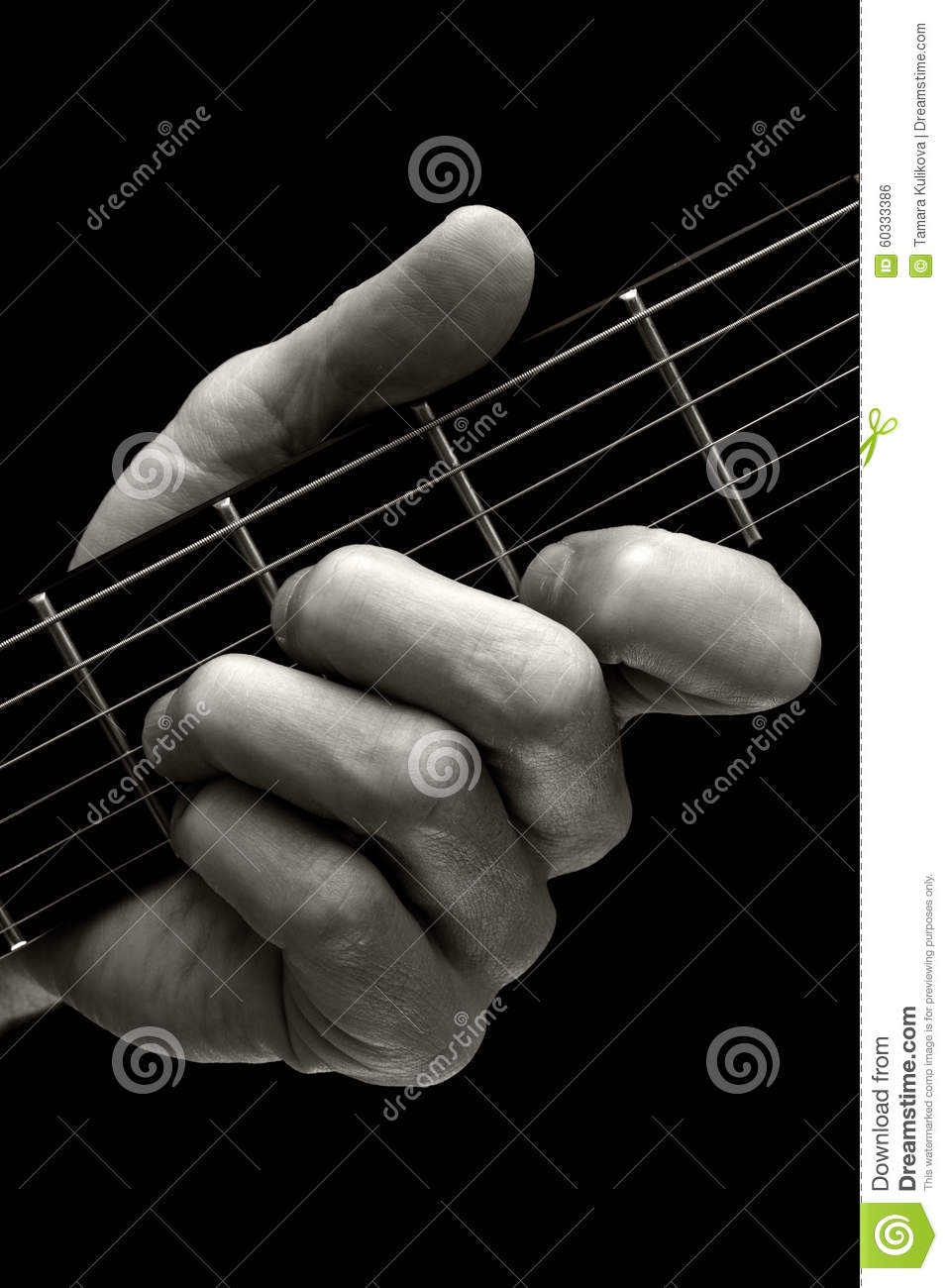 The Tristan Chord On Guitar higher Four Strings Stock Photo ...