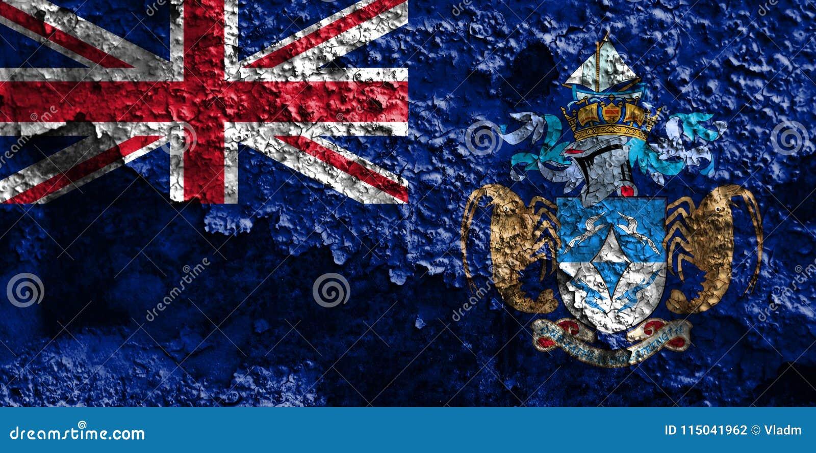 Tristan da Cunha grungeflagga, brittiska utländska territorier, britt