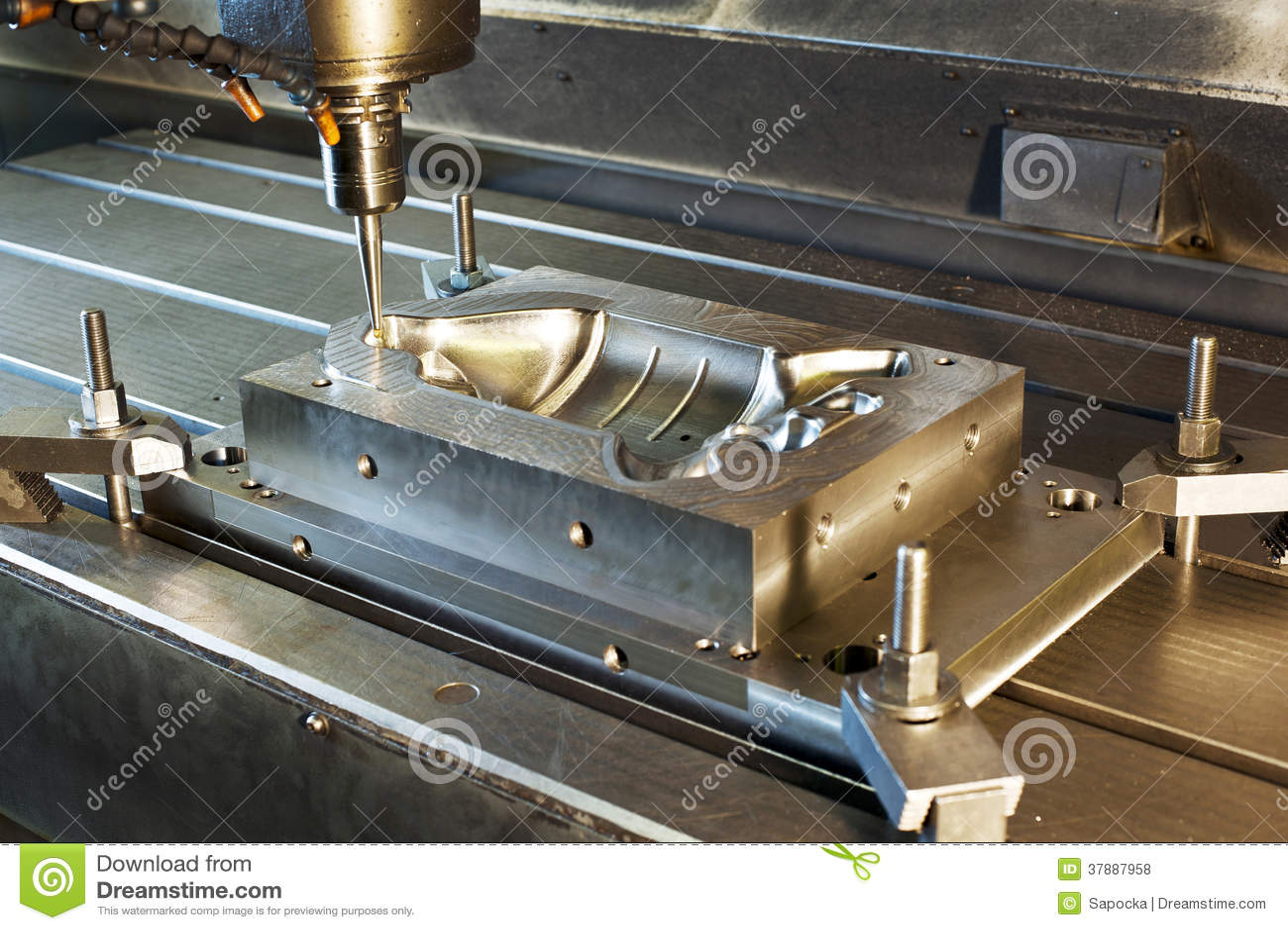 Trituração industrial do molde de metal