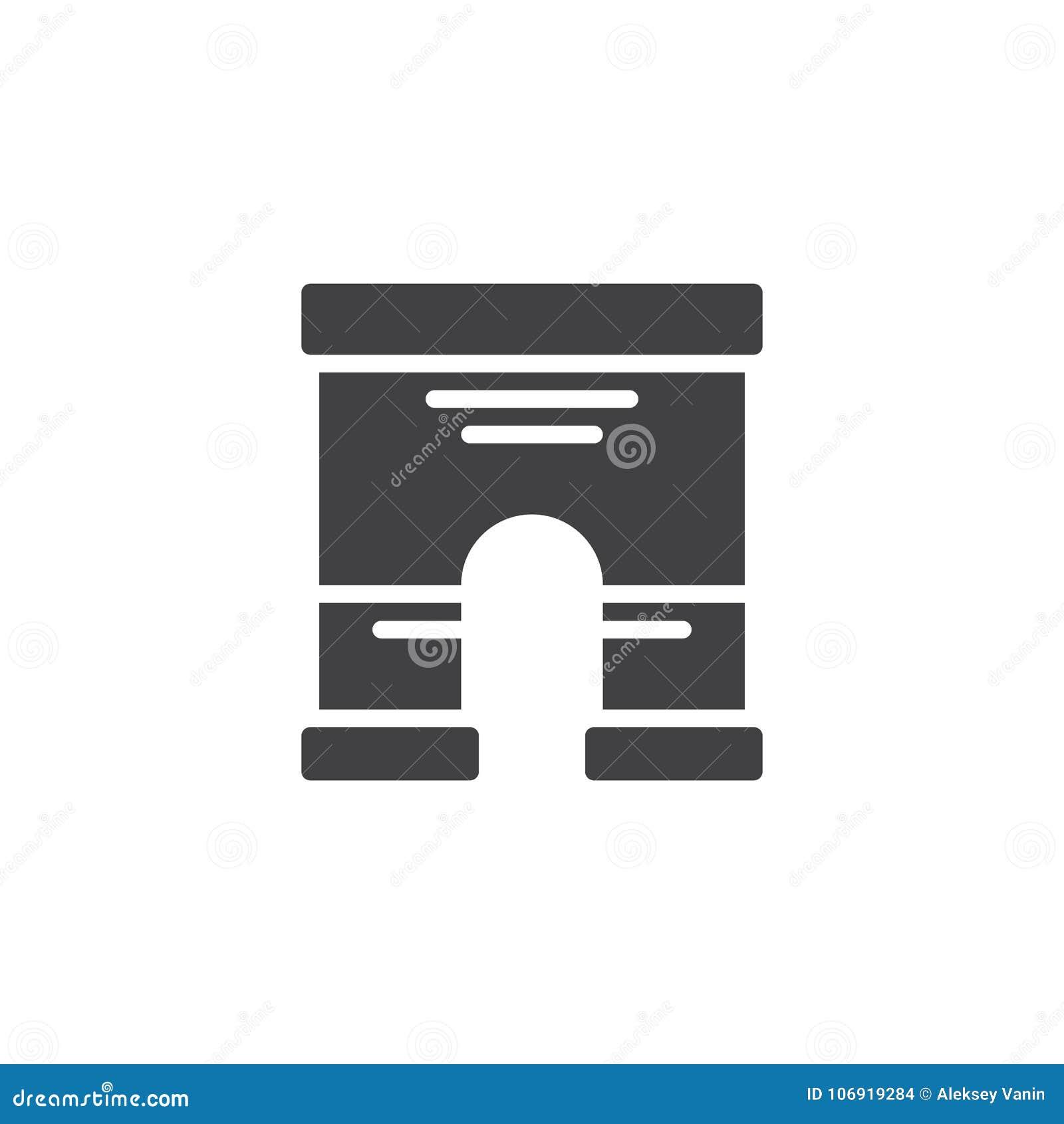 Triumfalnego łuku architektury ikony wektor