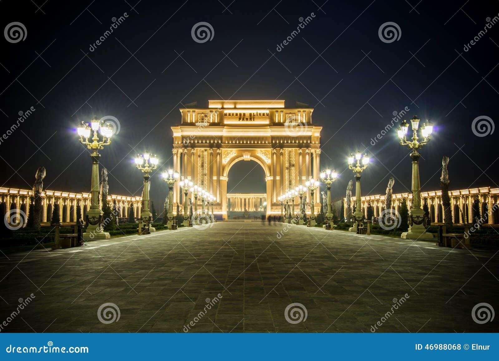 Triumph Arch on February 15 in Azerb