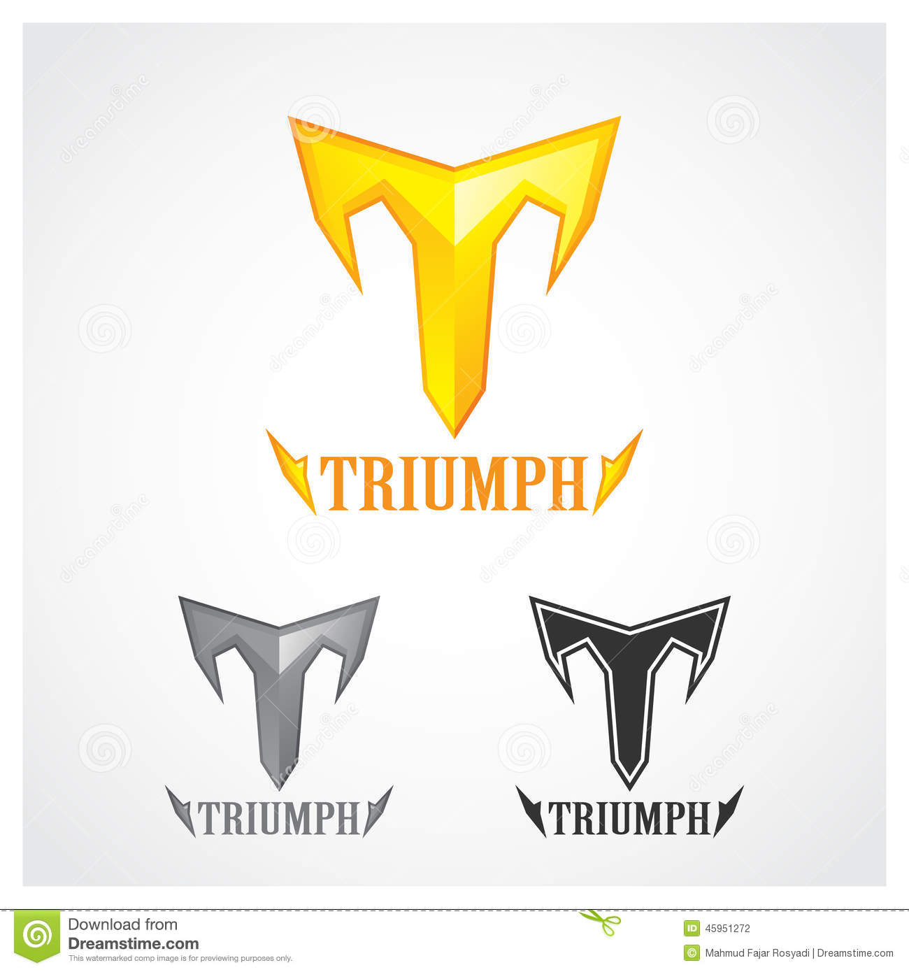 Triumph Gold Stock Vector Illustration Of Winner Silhouette 45951272
