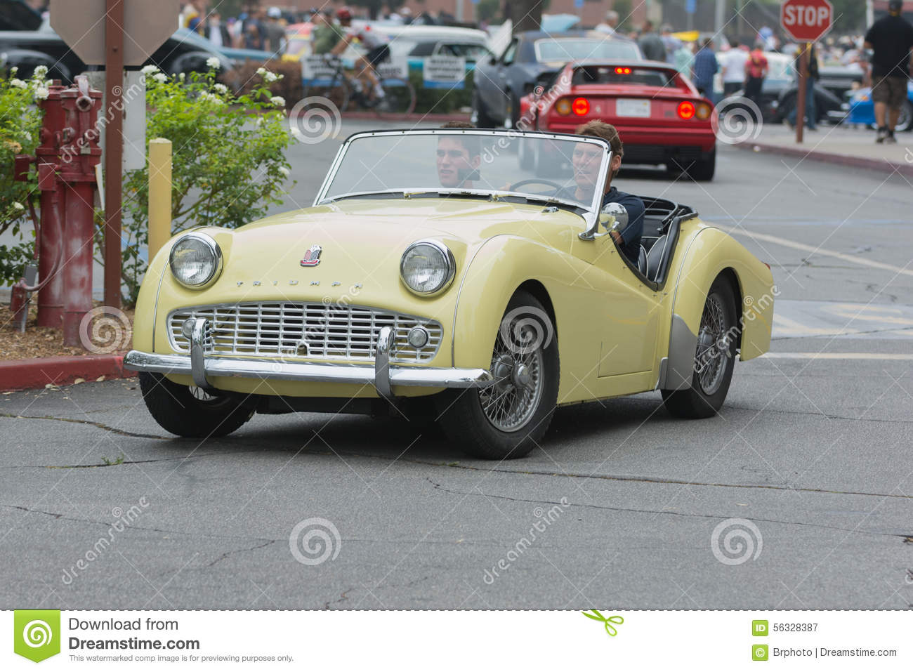 Triumph tr3 car on display editorial photography image of for Woodland motors used cars