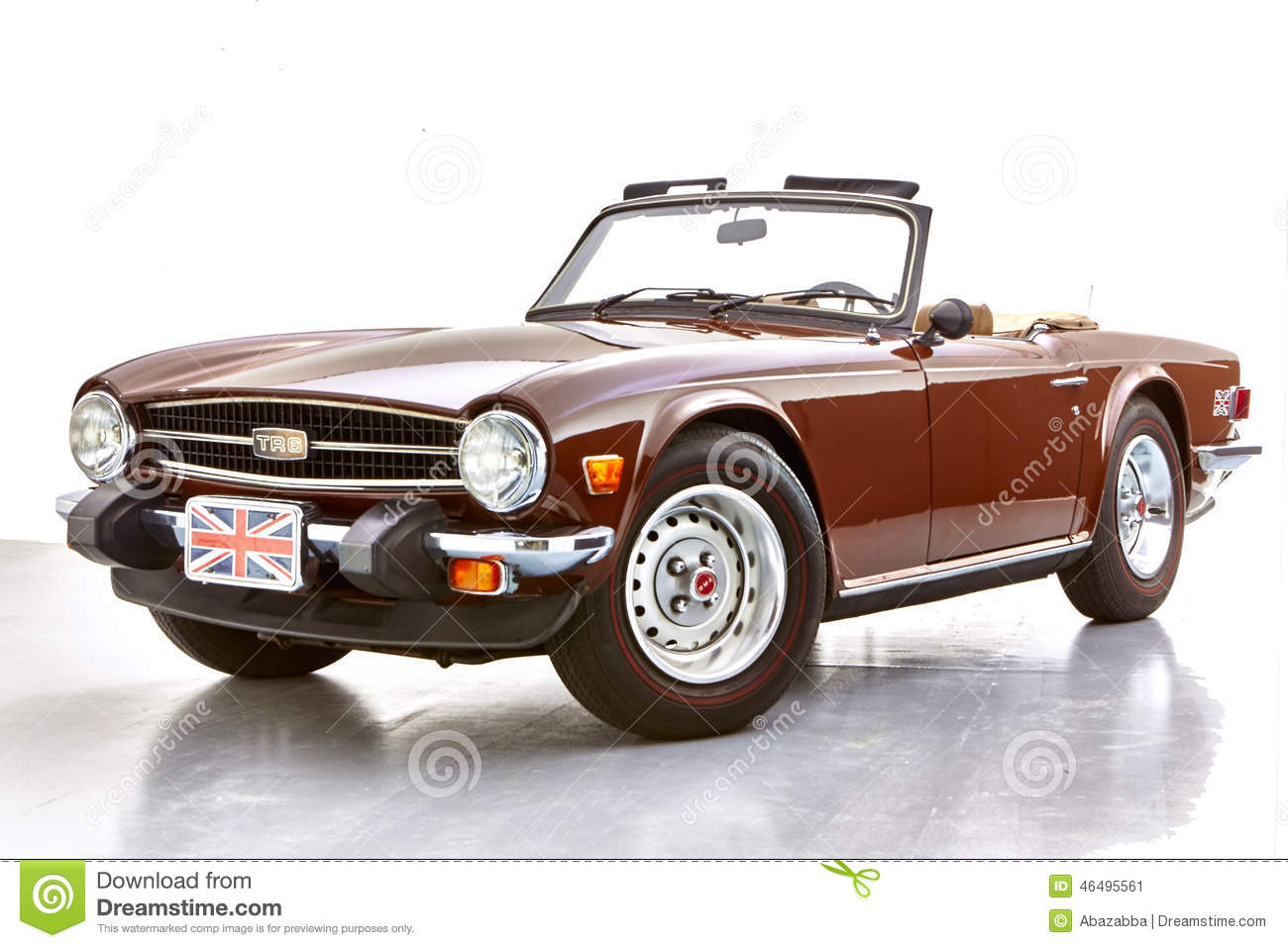 TR6 convertible. British sports car. Classic vintage sports car