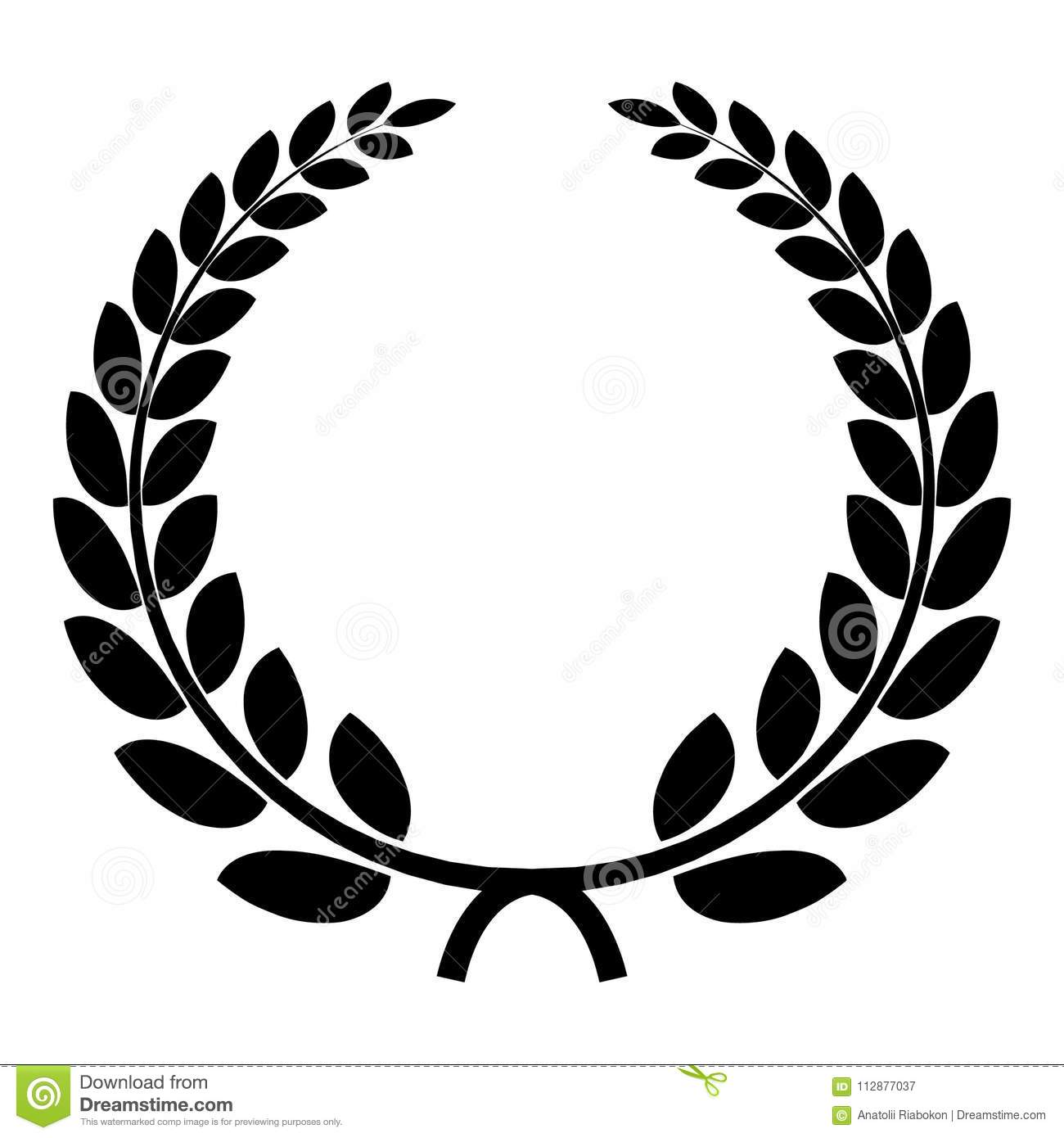 Triumph Wreath Icon Simple Style Stock Vector Illustration Of