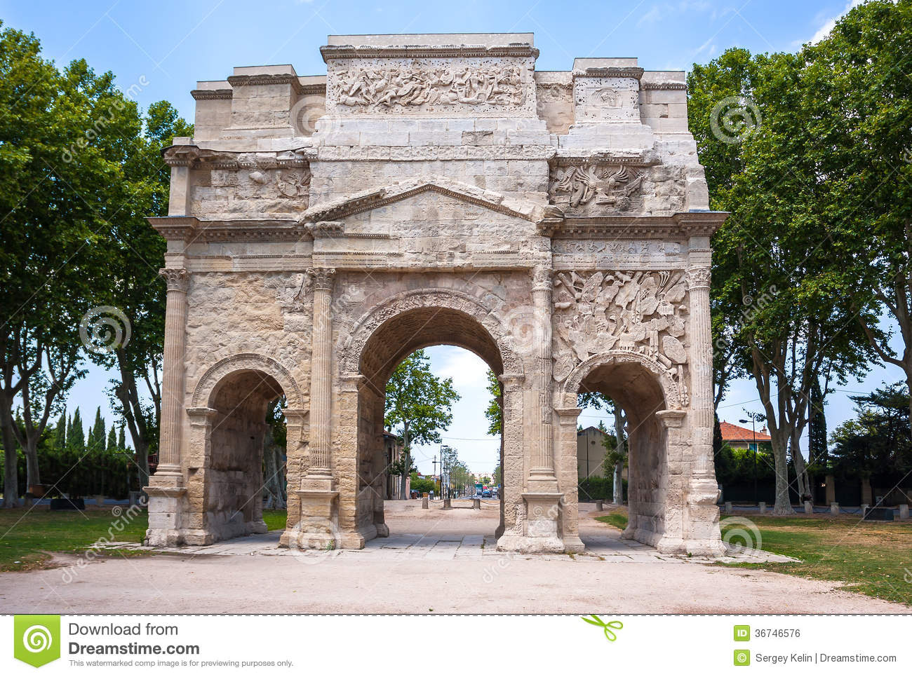 Triumphal Arch Of Orange, France Royalty Free Stock Image ...  Triumphal Arch ...