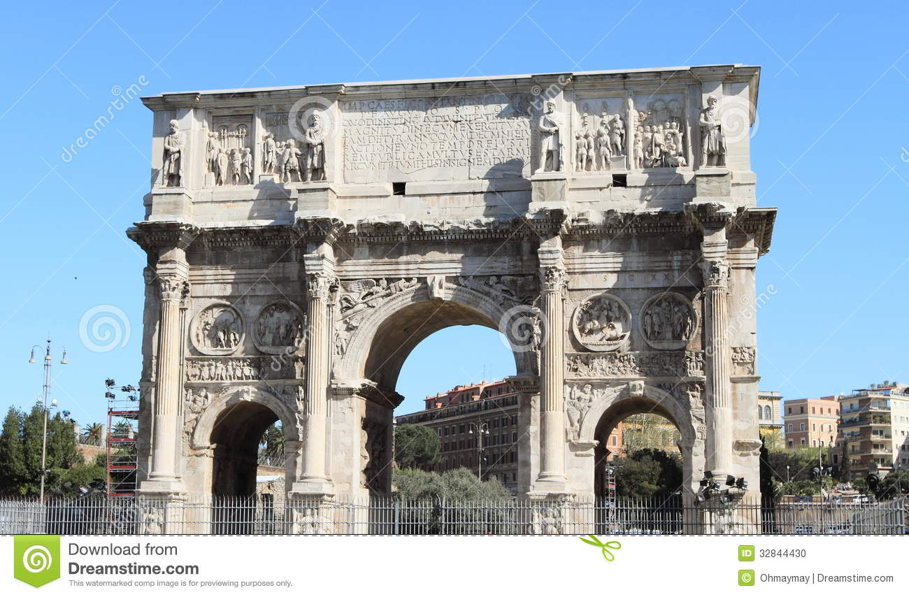 Arche Italy  city images : Ancient Triumphal arch of Costantine in Rome, Italy.