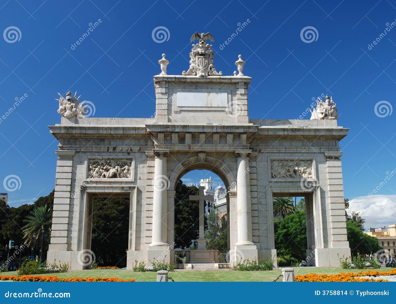 Triumphal Arch in Valencia