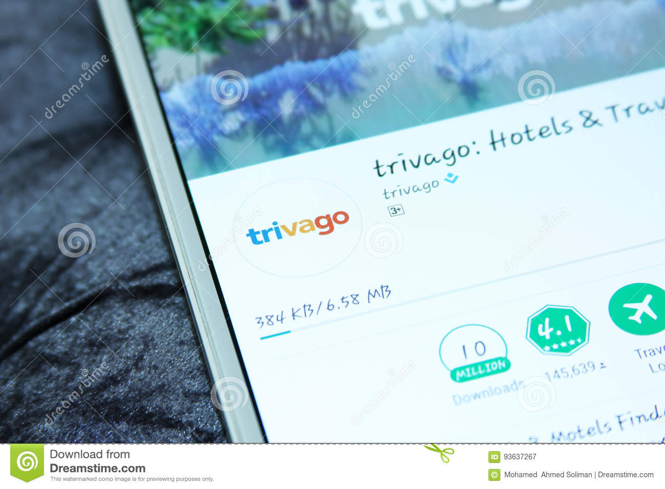 Trivago Mobile App Editorial Photography Image Of Ranking