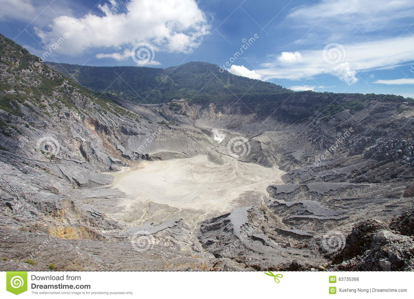 Trivalling wokoło góry Tangkuban Perahu w Bandung, Indonezja