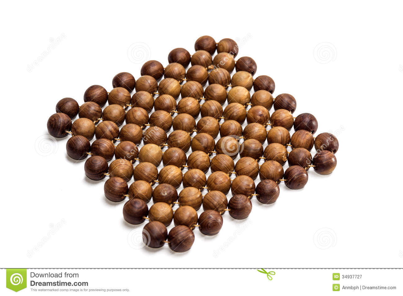 A Trivet Of Juniper Beads Stock Image Image Of Placemat 34937727