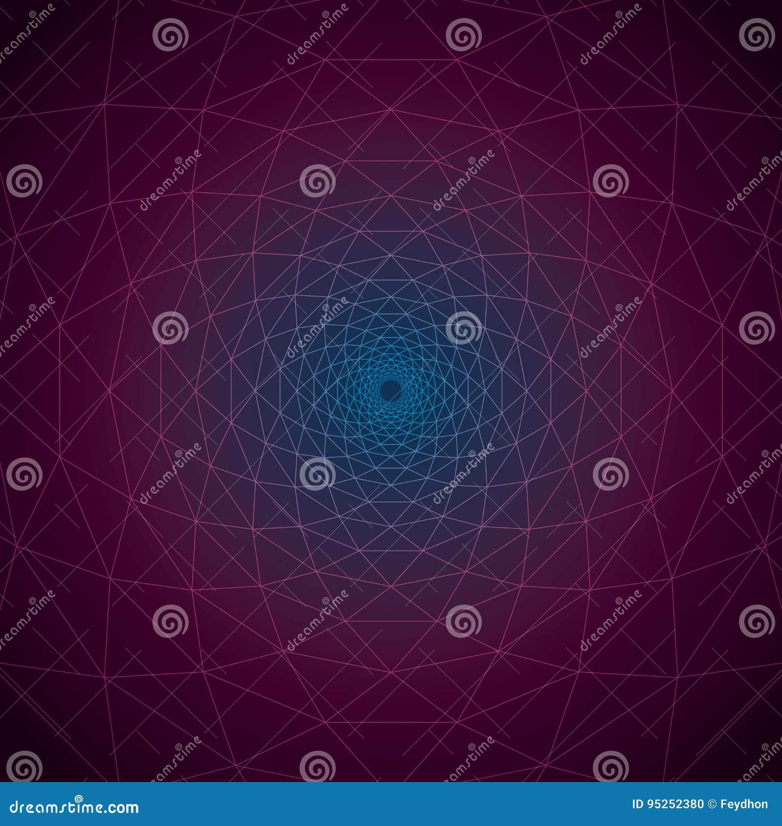 Trivexen-Dämmerung: Dreieckige Turbulenz-geometrische Linien Auf ...