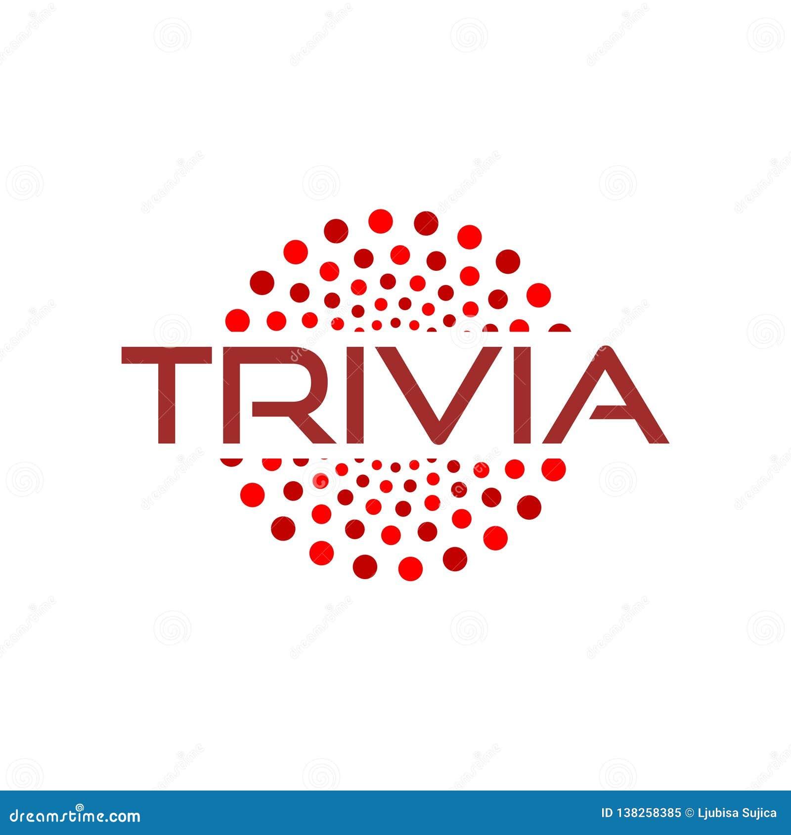 Trivia icon, logo or sign stock vector  Illustration of feminine