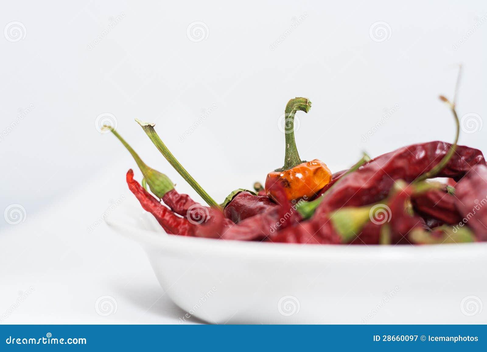 Trockene Pfeffer des roten Paprikas