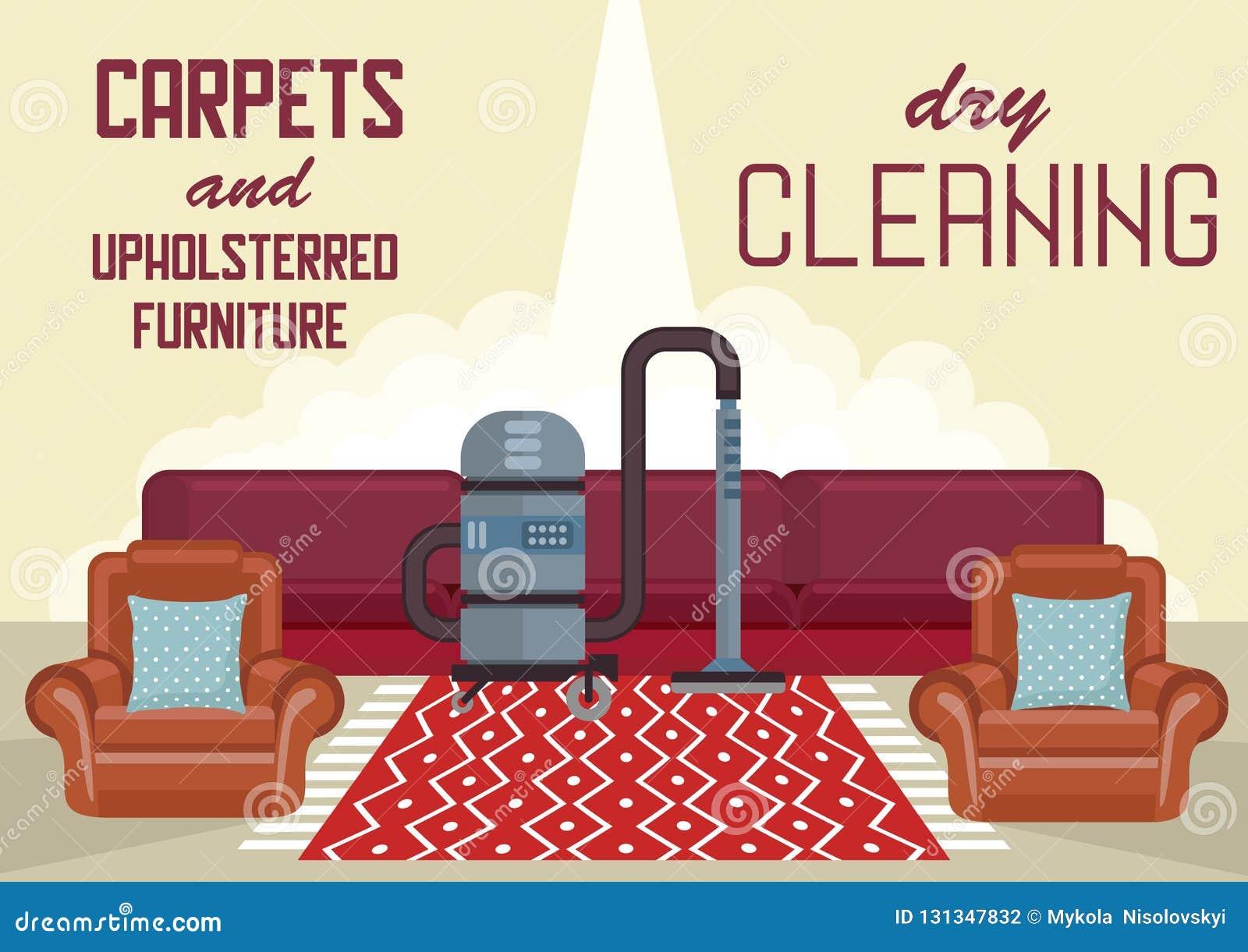 Trockenreinigungs-Teppiche und Polstermöbel