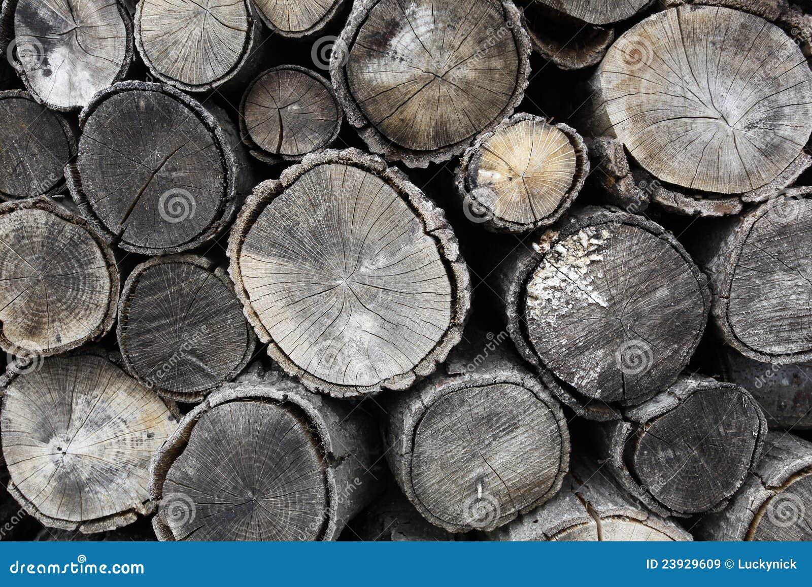 Trocknendes Brennholz