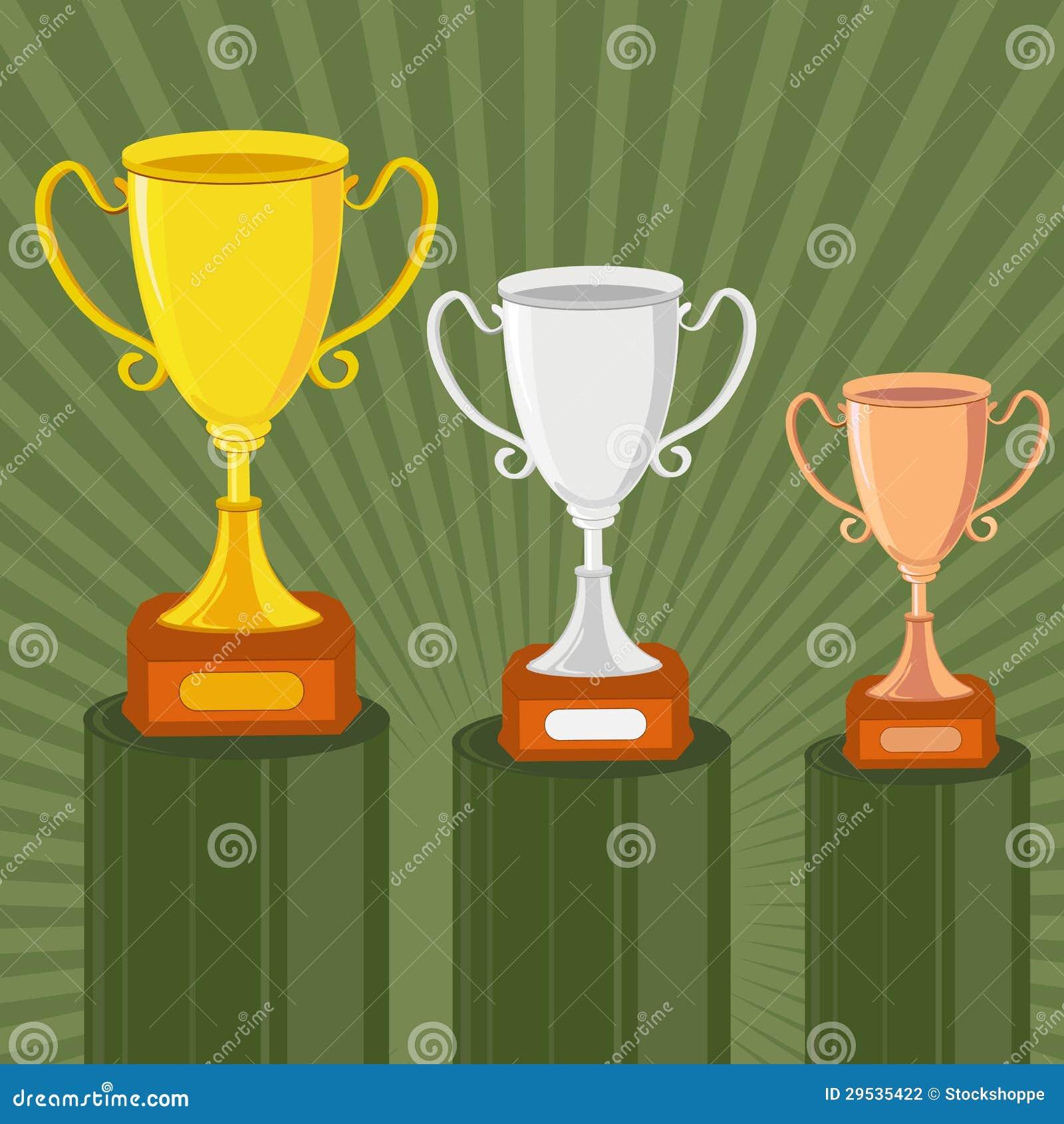 Troféu do ouro, da prata e do bronze
