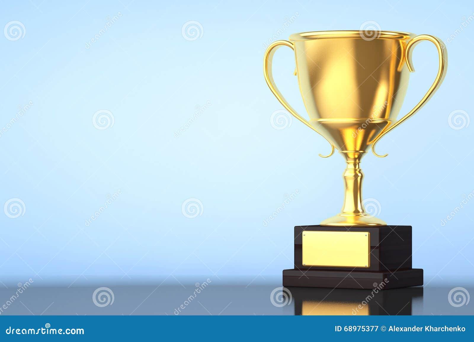 Trofeo de la taza del oro del campeón