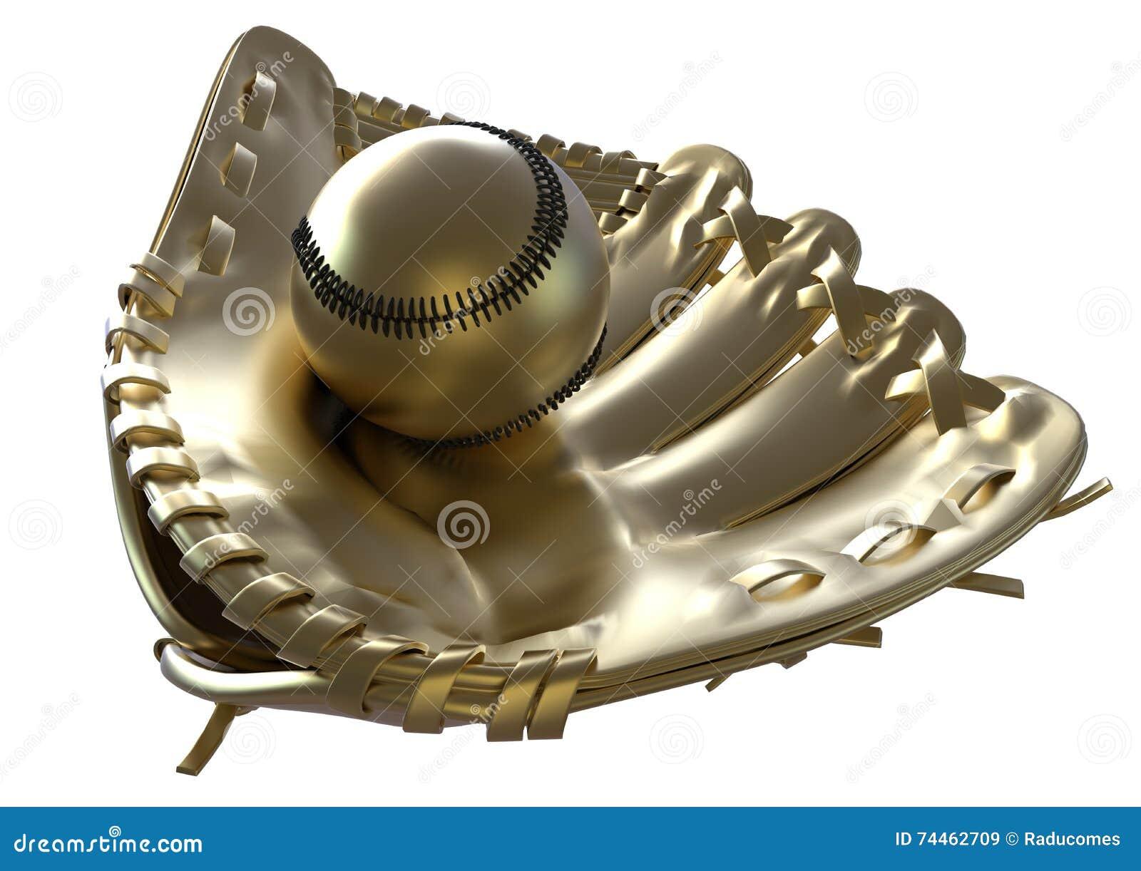 Trofeo de oro del béisbol stock de ilustración. Ilustración de ...